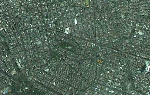 Imagen, Foto Satelite del Parque Chapultepec, México DF (MEXICO)