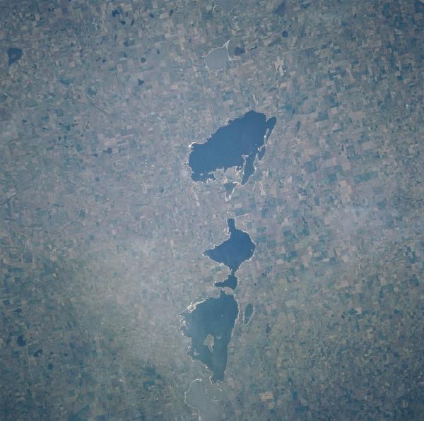 Satellite Image, Rio Cuarto Craters, Argentina