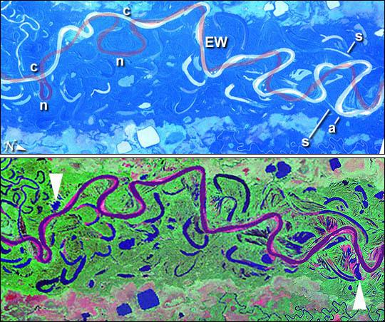 Imagen, Foto Satelite del Rio Mamore, Bolivia