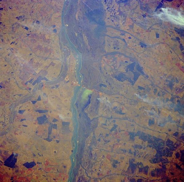 Imagen, Foto Satelite del Rio Paraná, Brasil