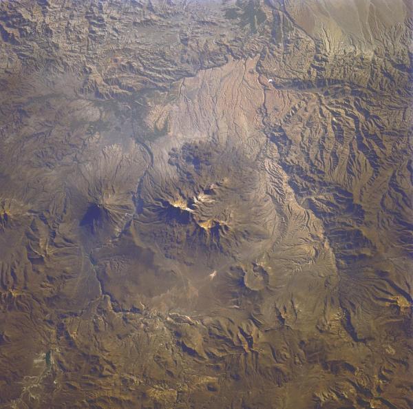 Imagen, Foto Satelite del Volcan El Misti, Area de Arequipa, Peru