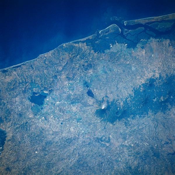 Satellite Image, Photo of San Miguel Volcano, El Salvador