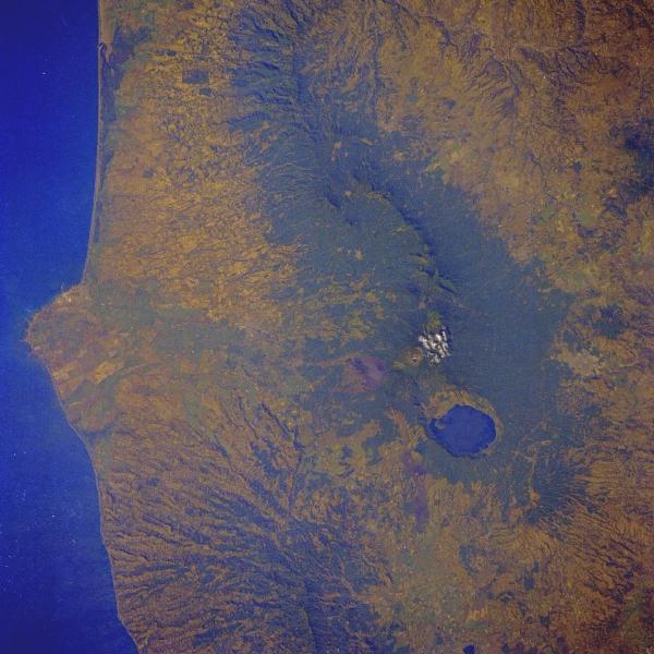 Imagen, Foto Satelite del Volcan Sante Ana, El Salvador