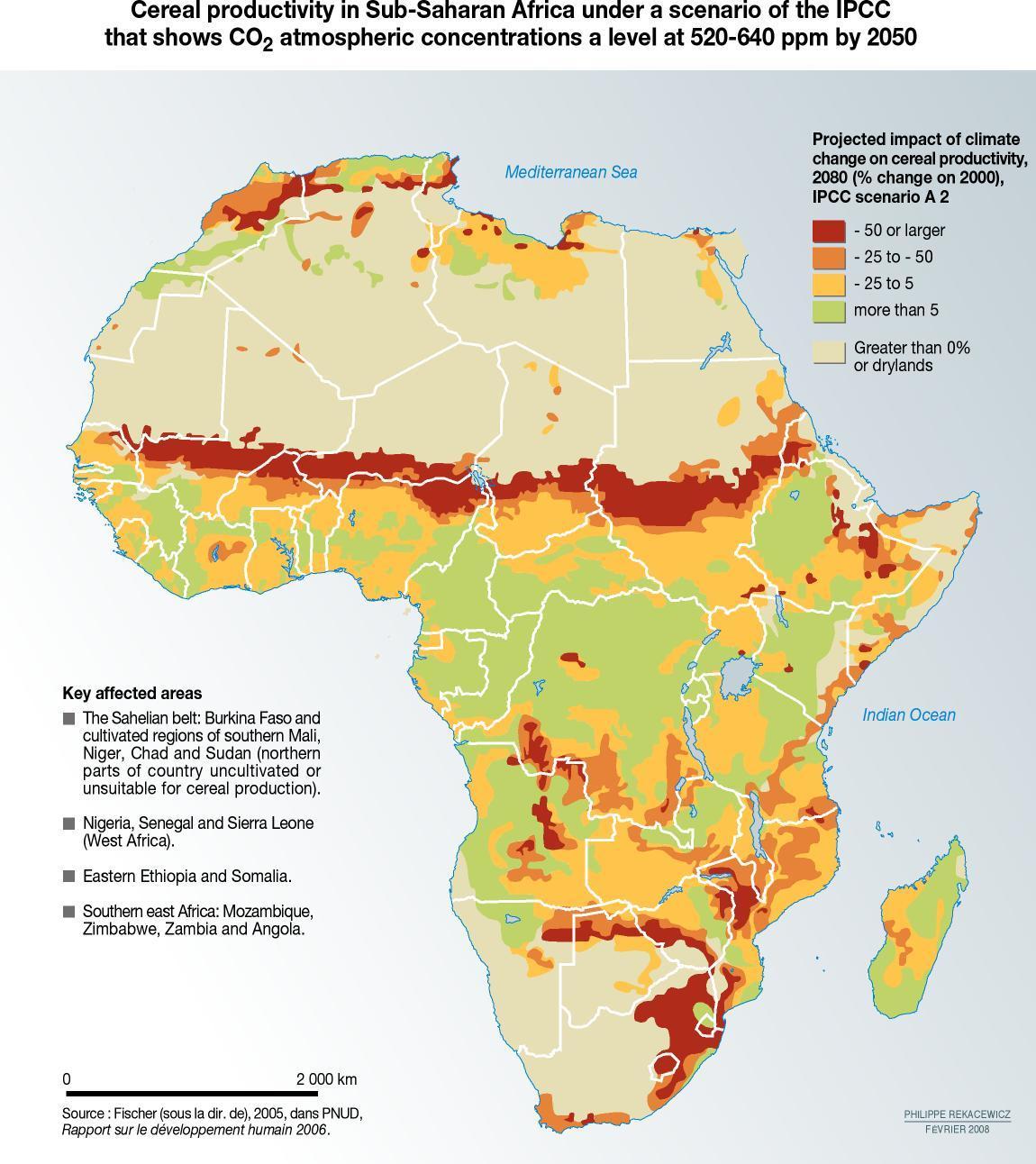 Impactos del cambio climático para la agricultura en África