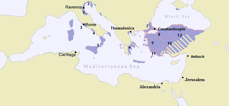 Imperio Bizantino en 717