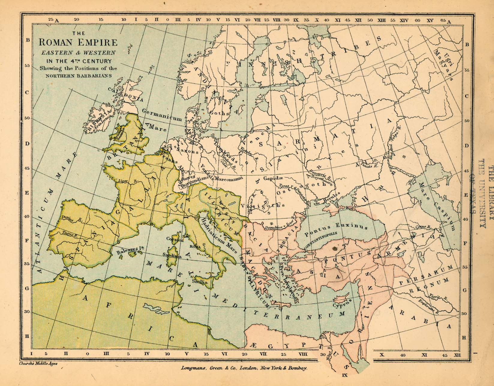 The Roman Empire, Eastern and Western, in the 4th Century