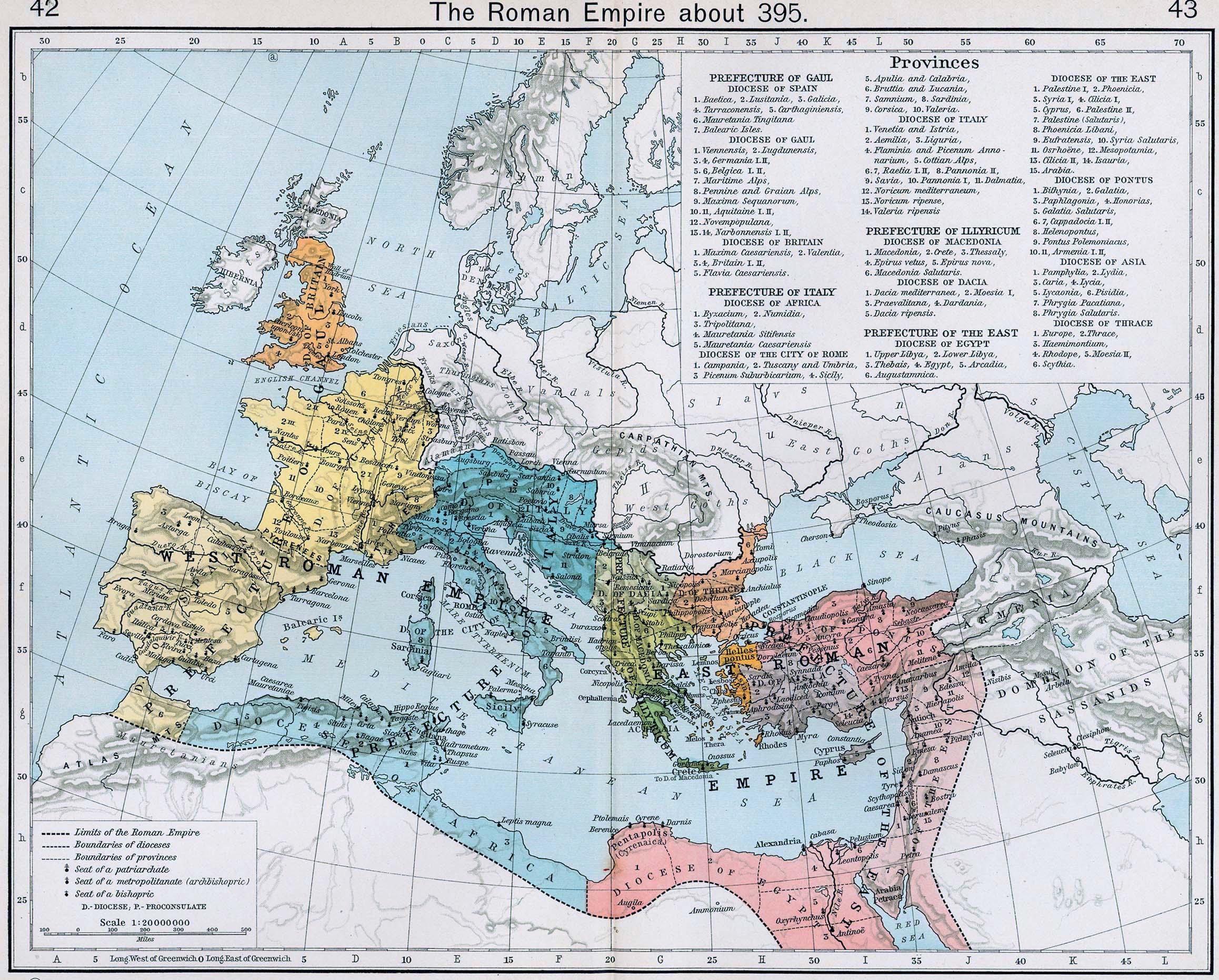 Imperios Romano de Occidente y Oriente 395