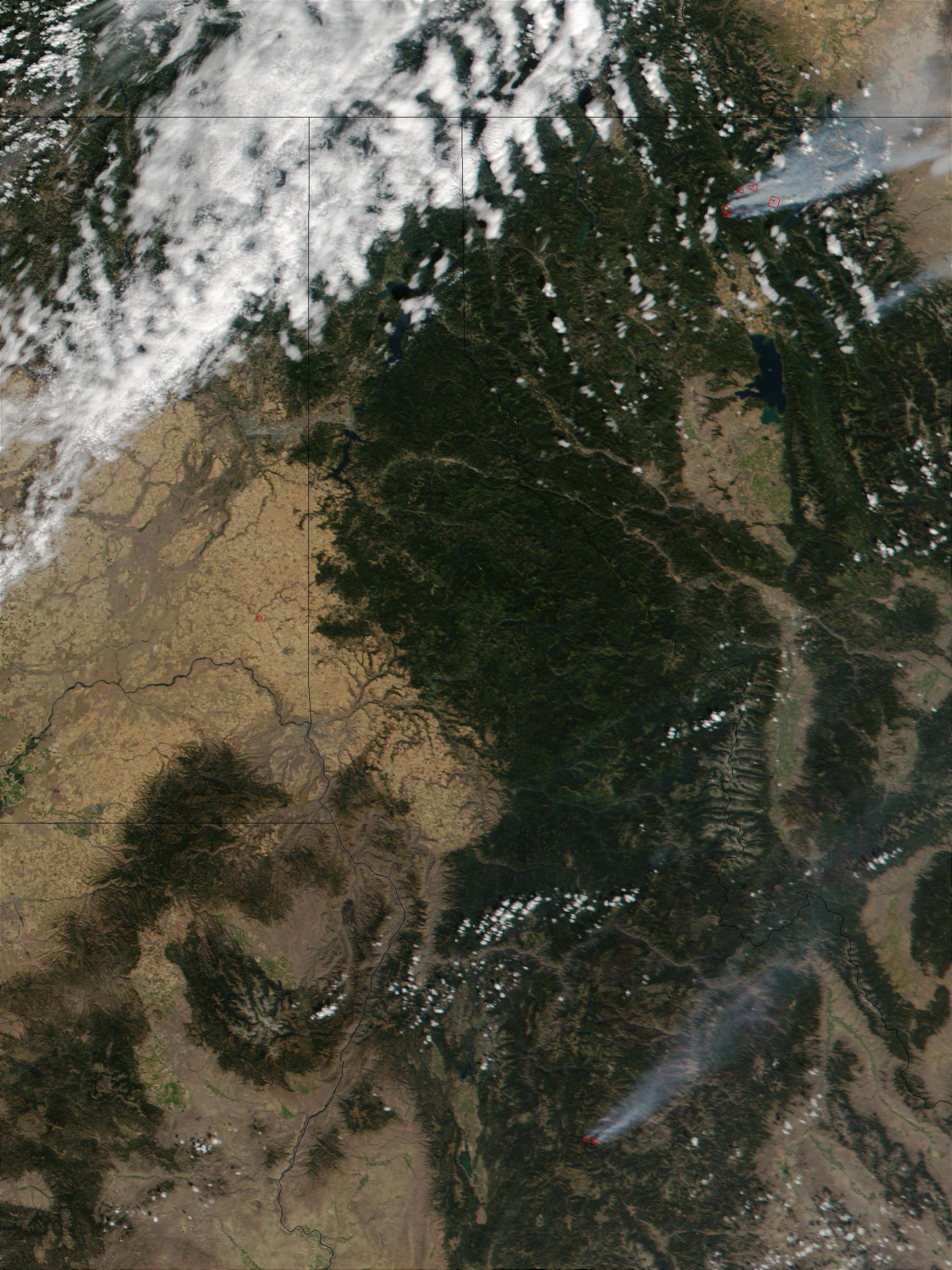 Incendio forestal en Montana y Idaho