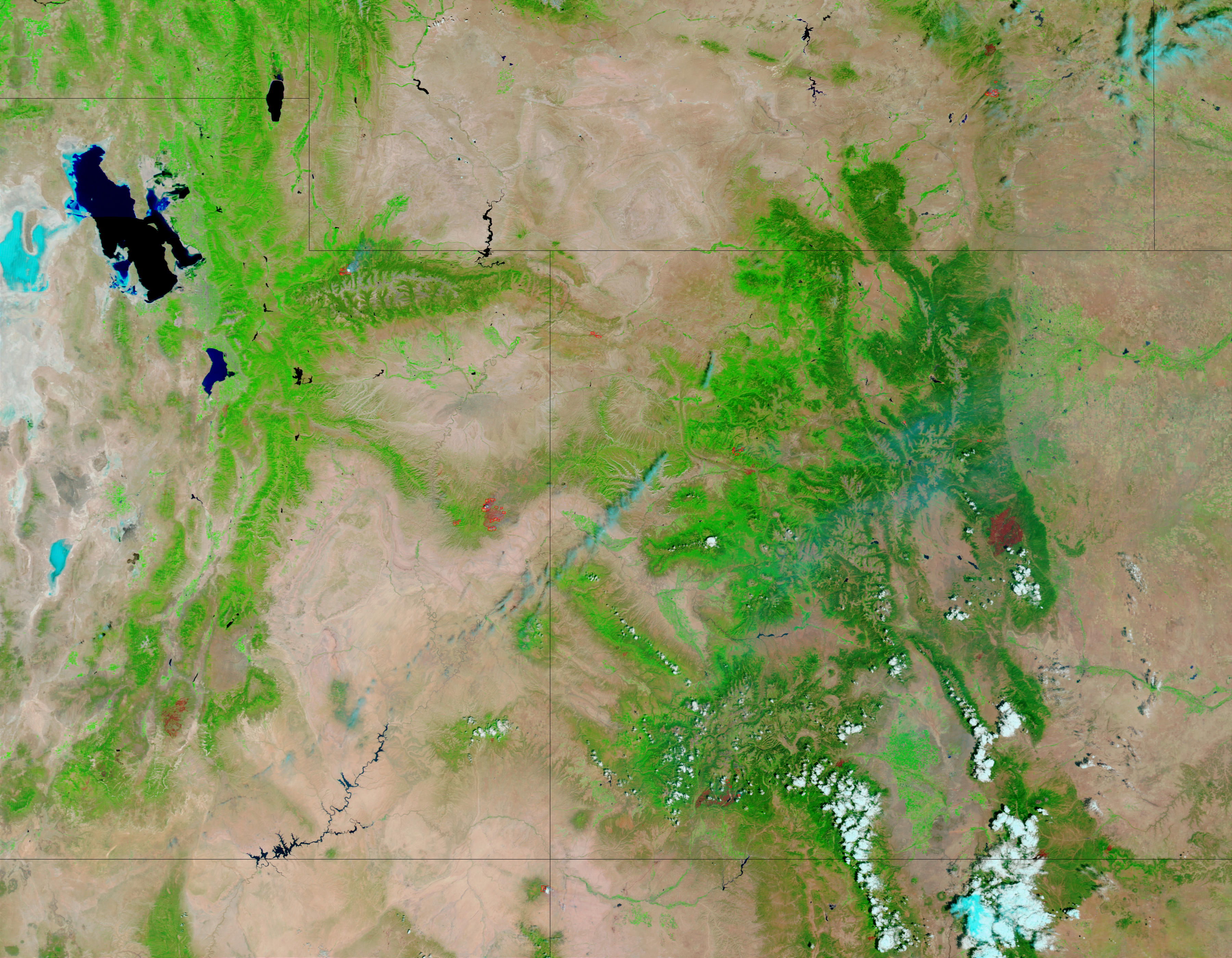 Incendio forestal en Utah y Colorado