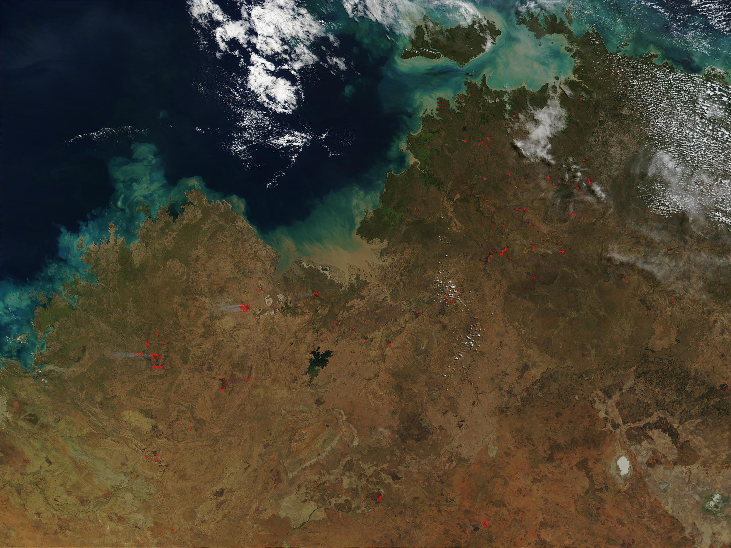 Incendio forestal en el norte de Australia