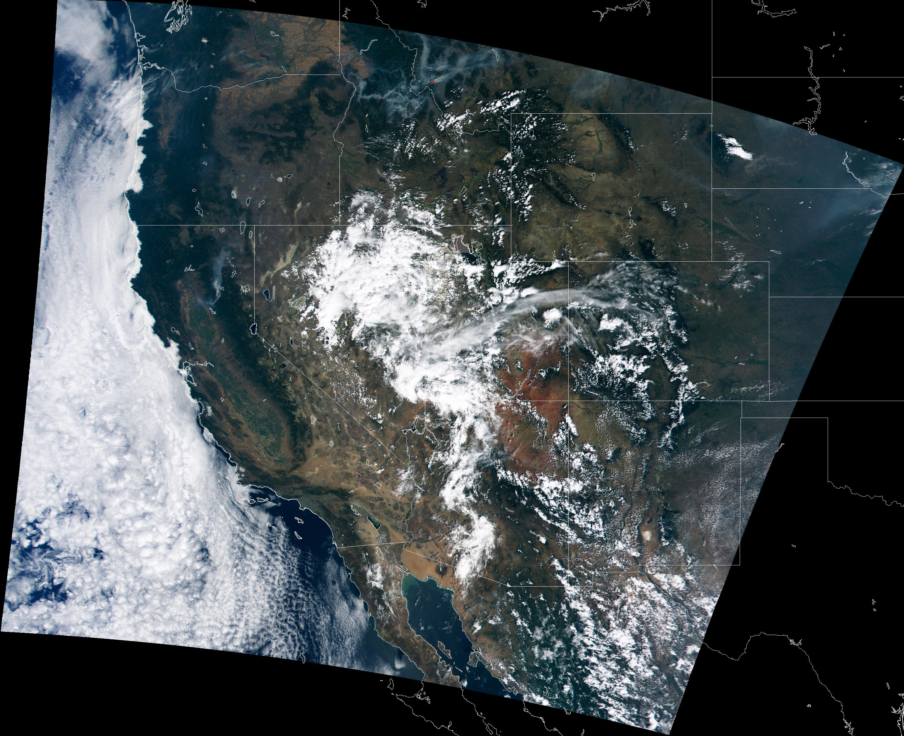 Incendio forestal encima de Montana y Idaho
