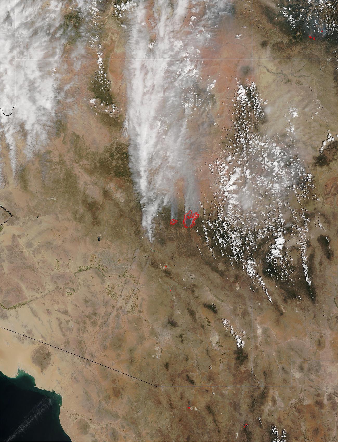 Incendios Rodeo y Chediski en Arizona