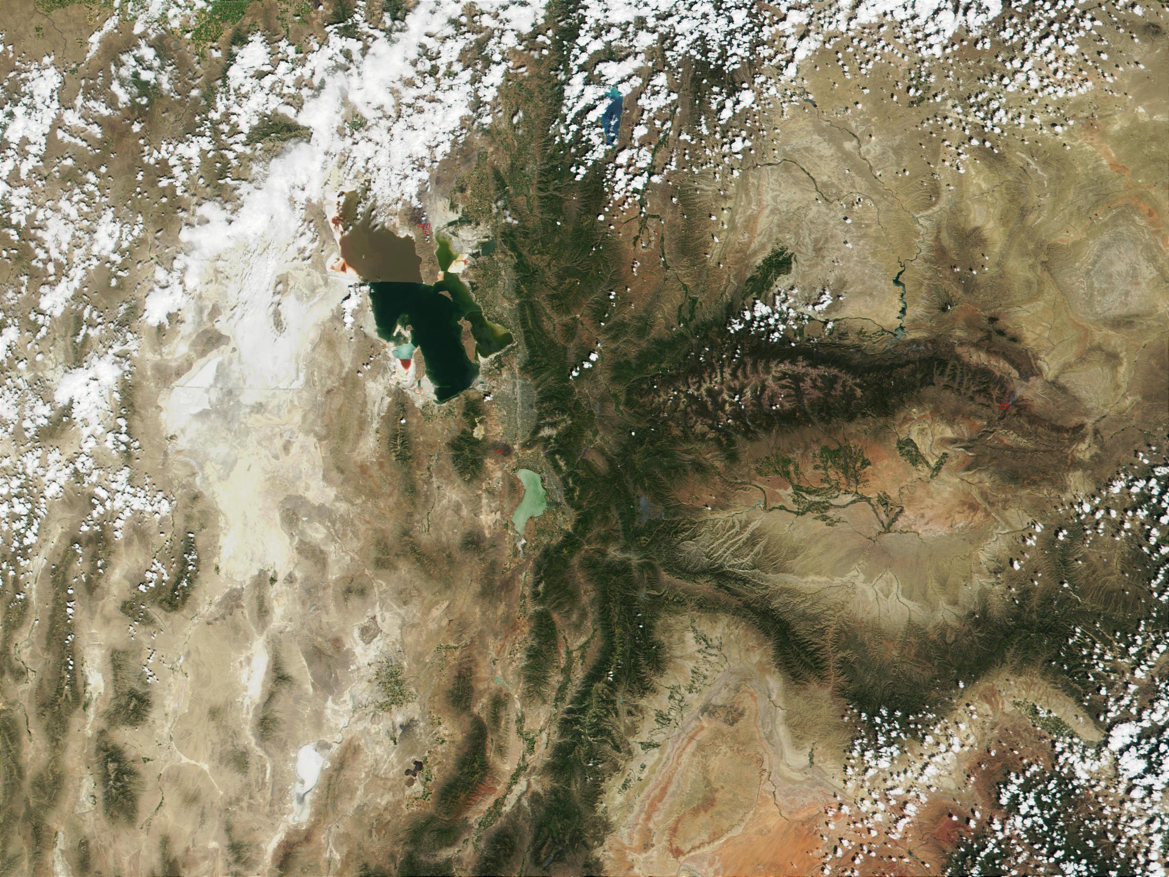 Incendios cerca de Salt Lake City, Utah, Estados Unidos