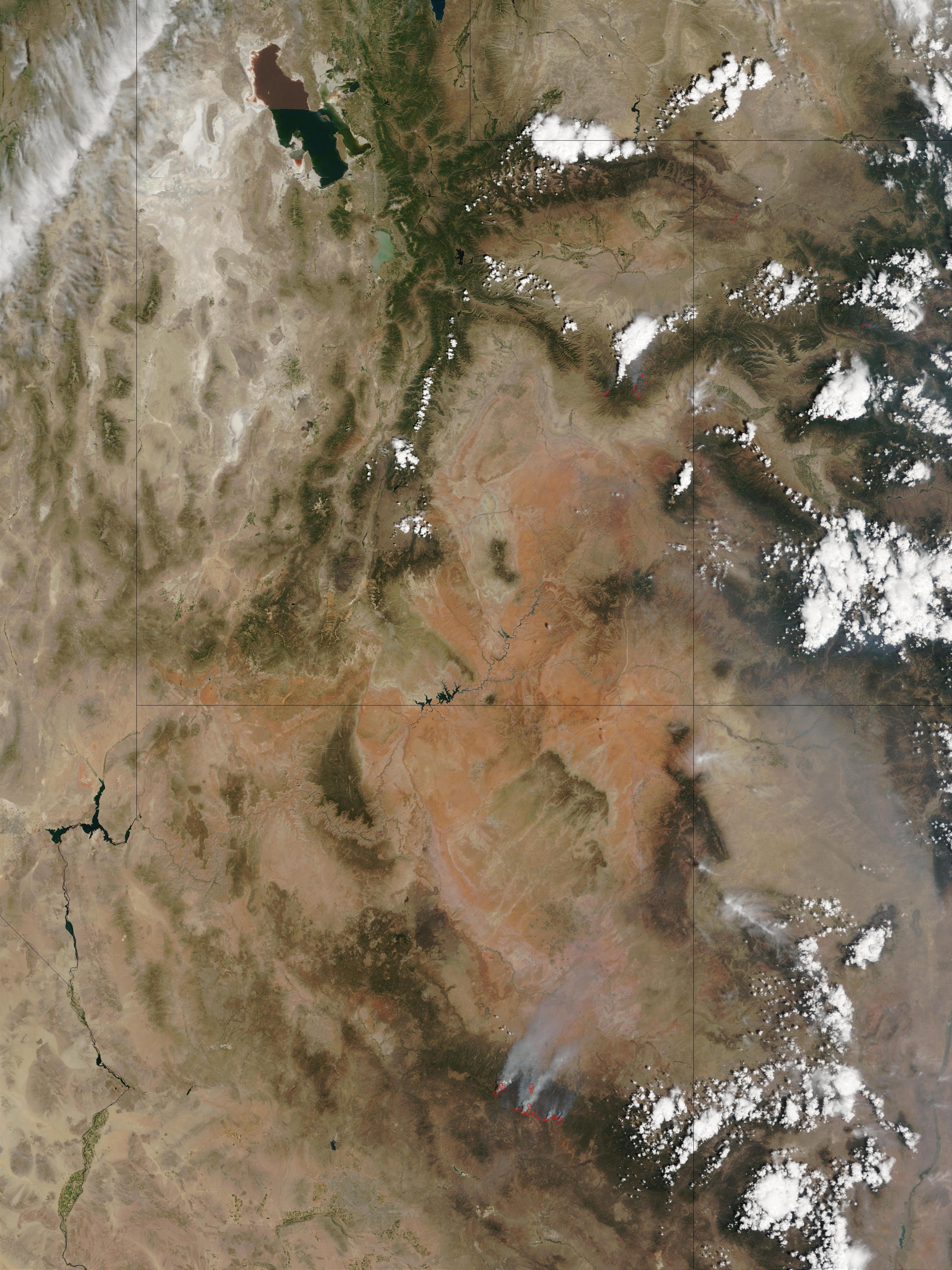 Incendios en Arizona, Utah, y Colorado