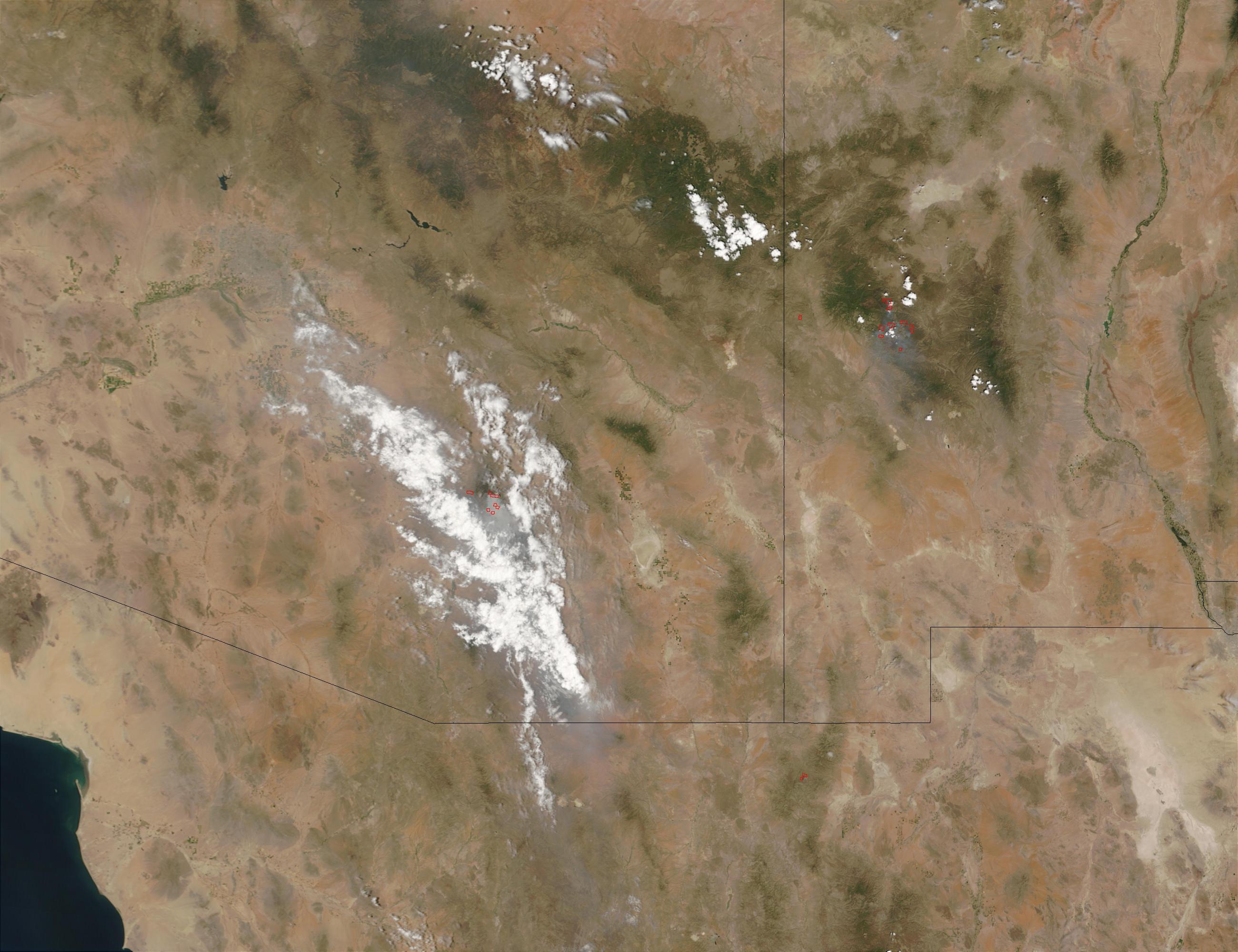 Incendios en Arizona y Nuevo México