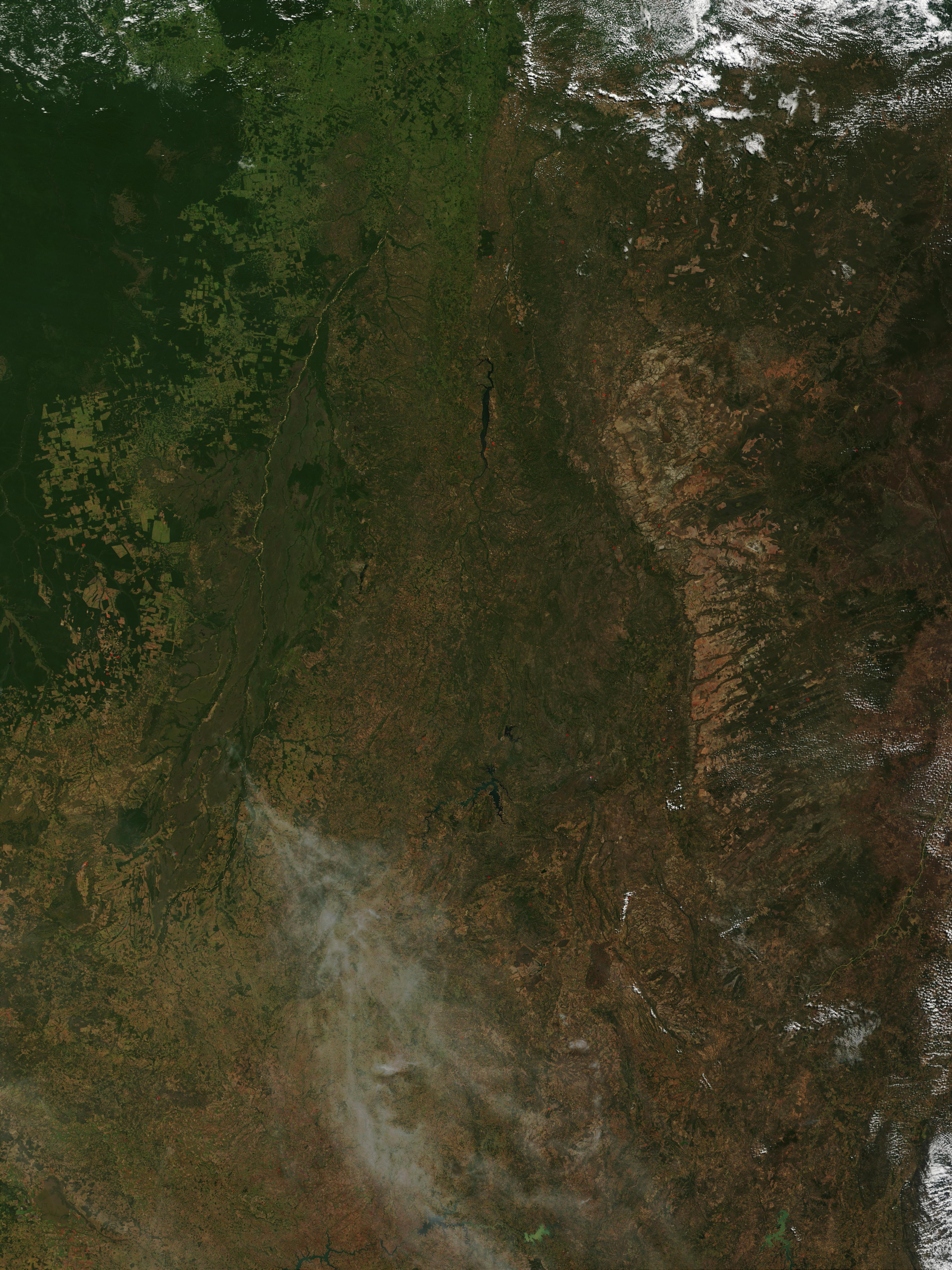 Incendios en Brasil central