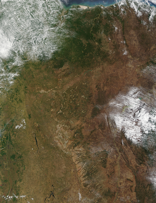 Incendios en Brasil oriental