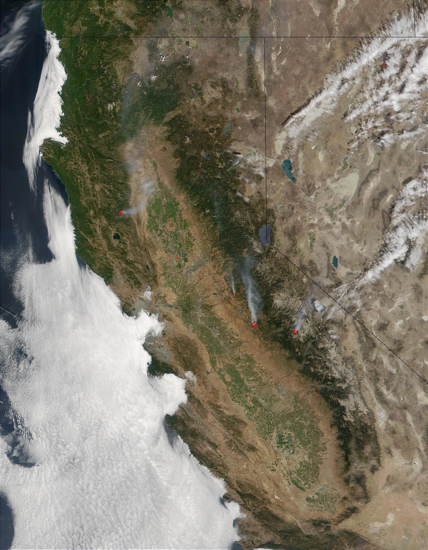 Incendios en California, Nevada, y Oregón
