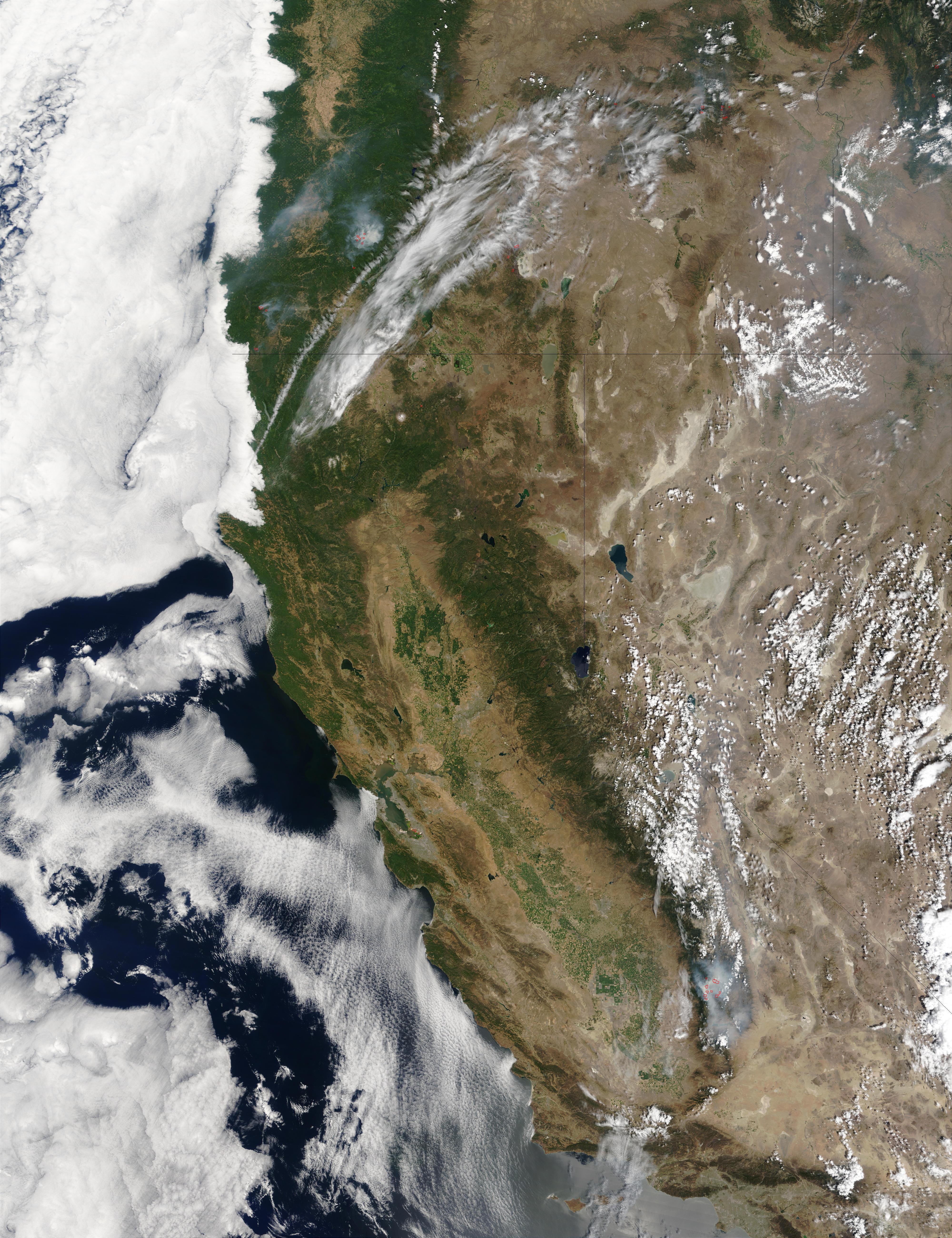 Incendios en California y Oregón