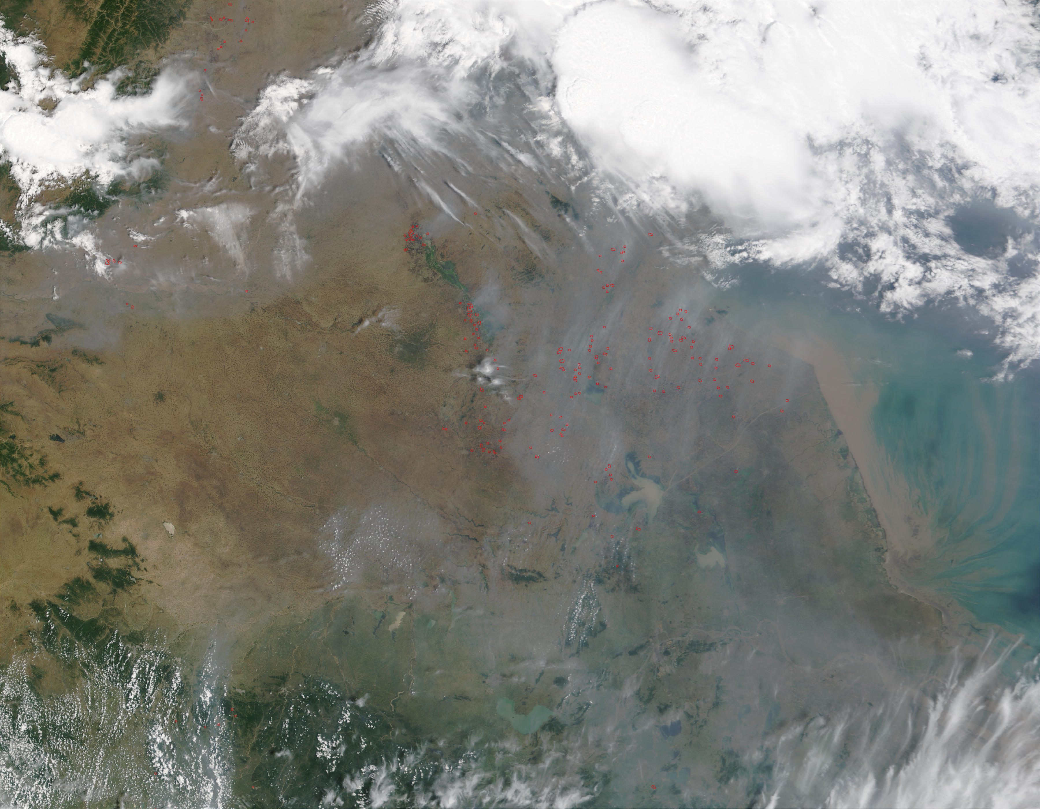 Fires in China