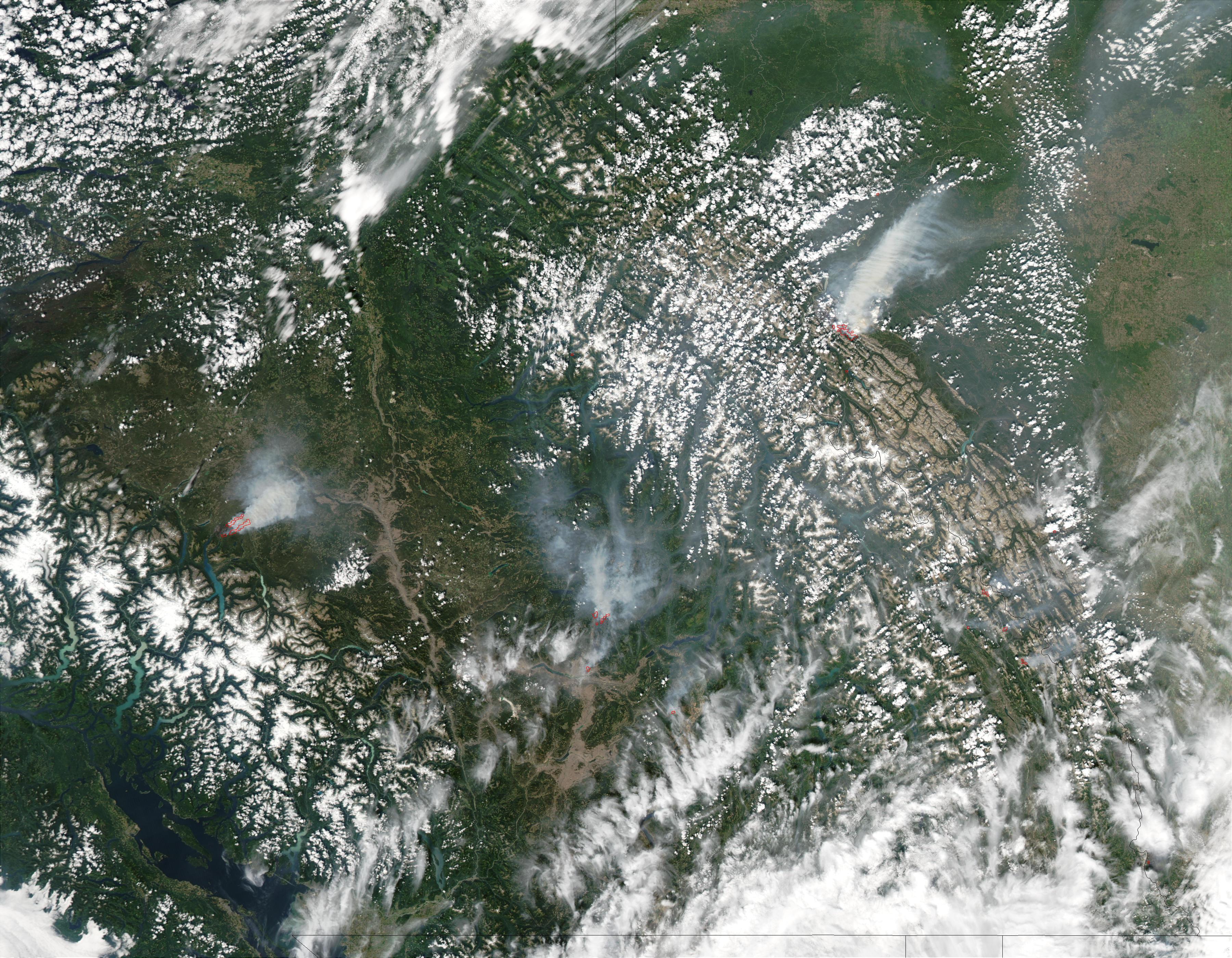 Incendios en Columbia Británica y Alberta