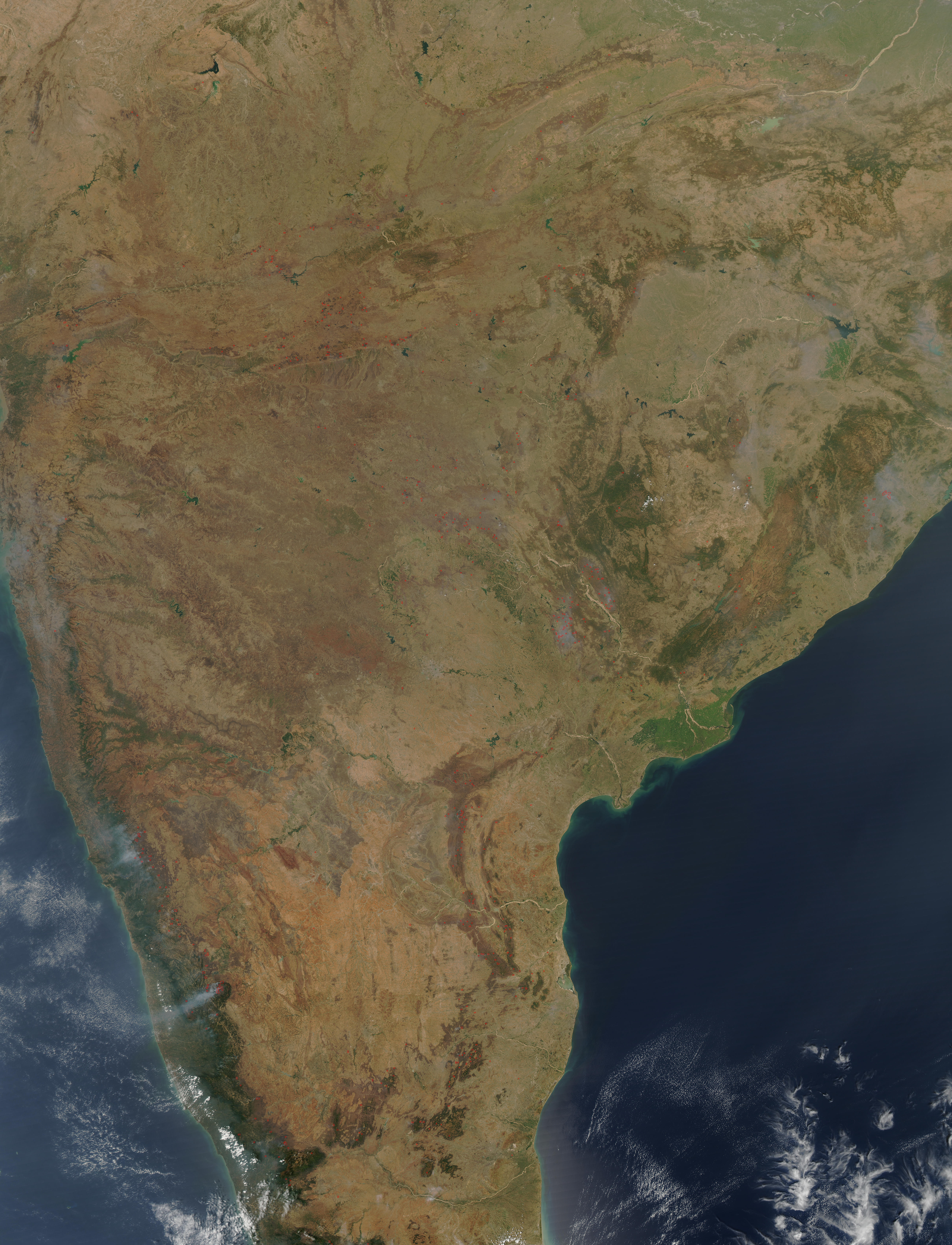 Fires in southern India