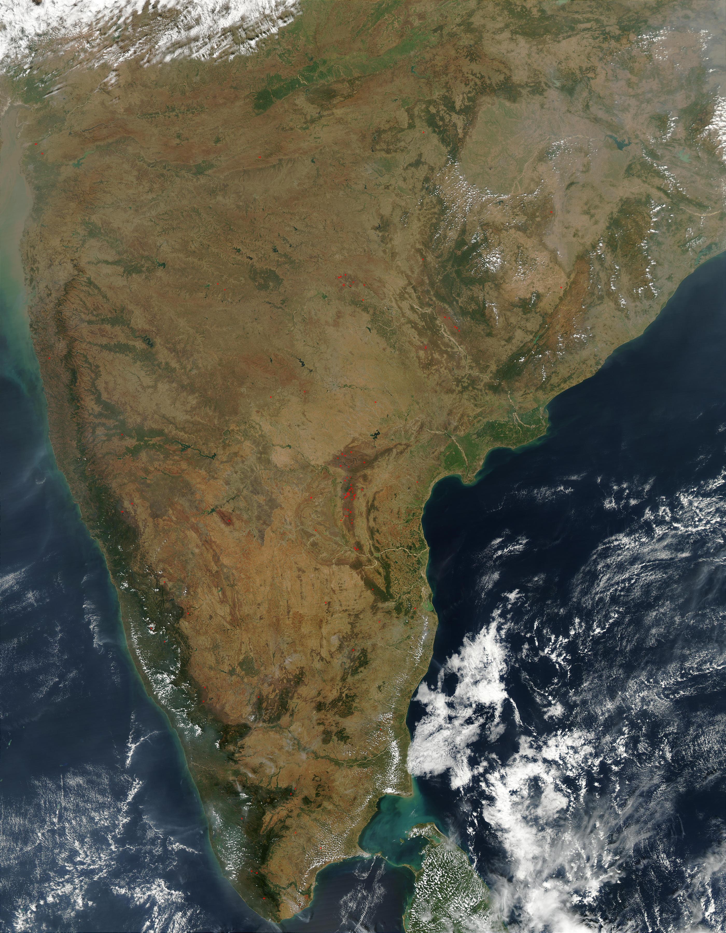 Incendios en India meridional