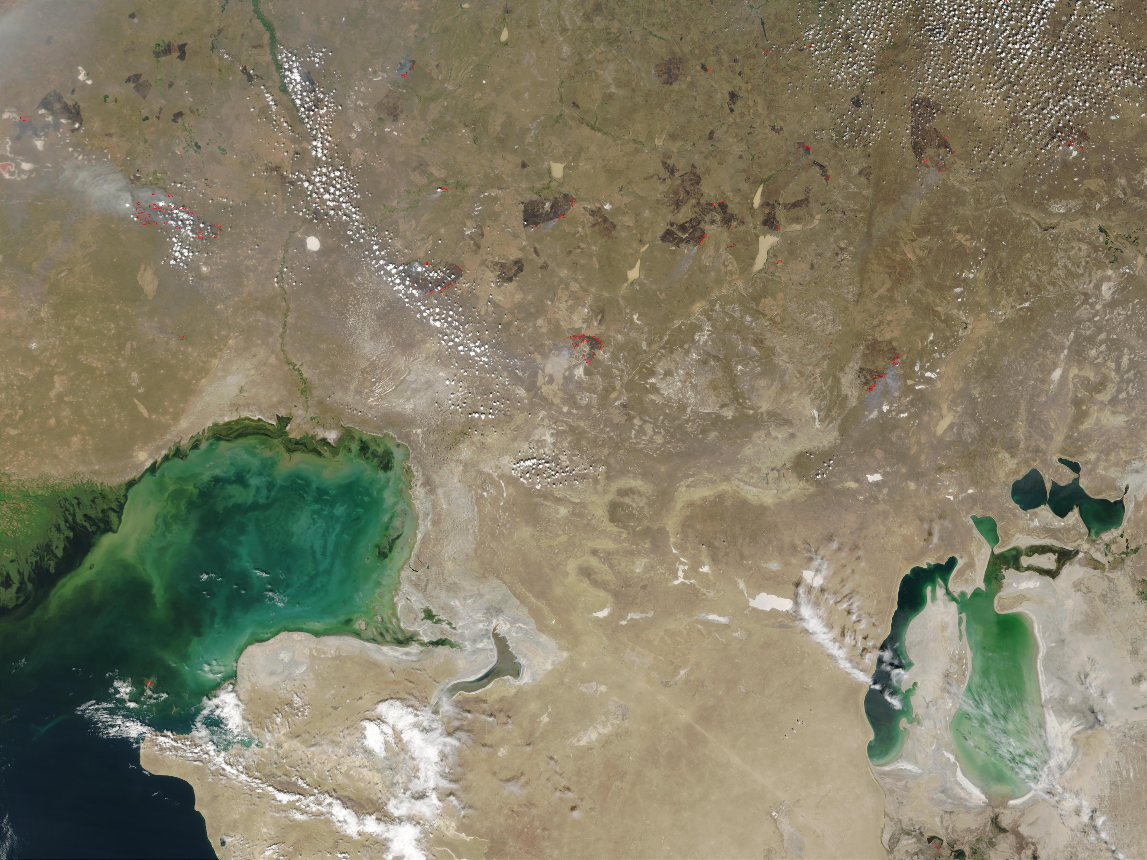 Fires in Kazakhstan