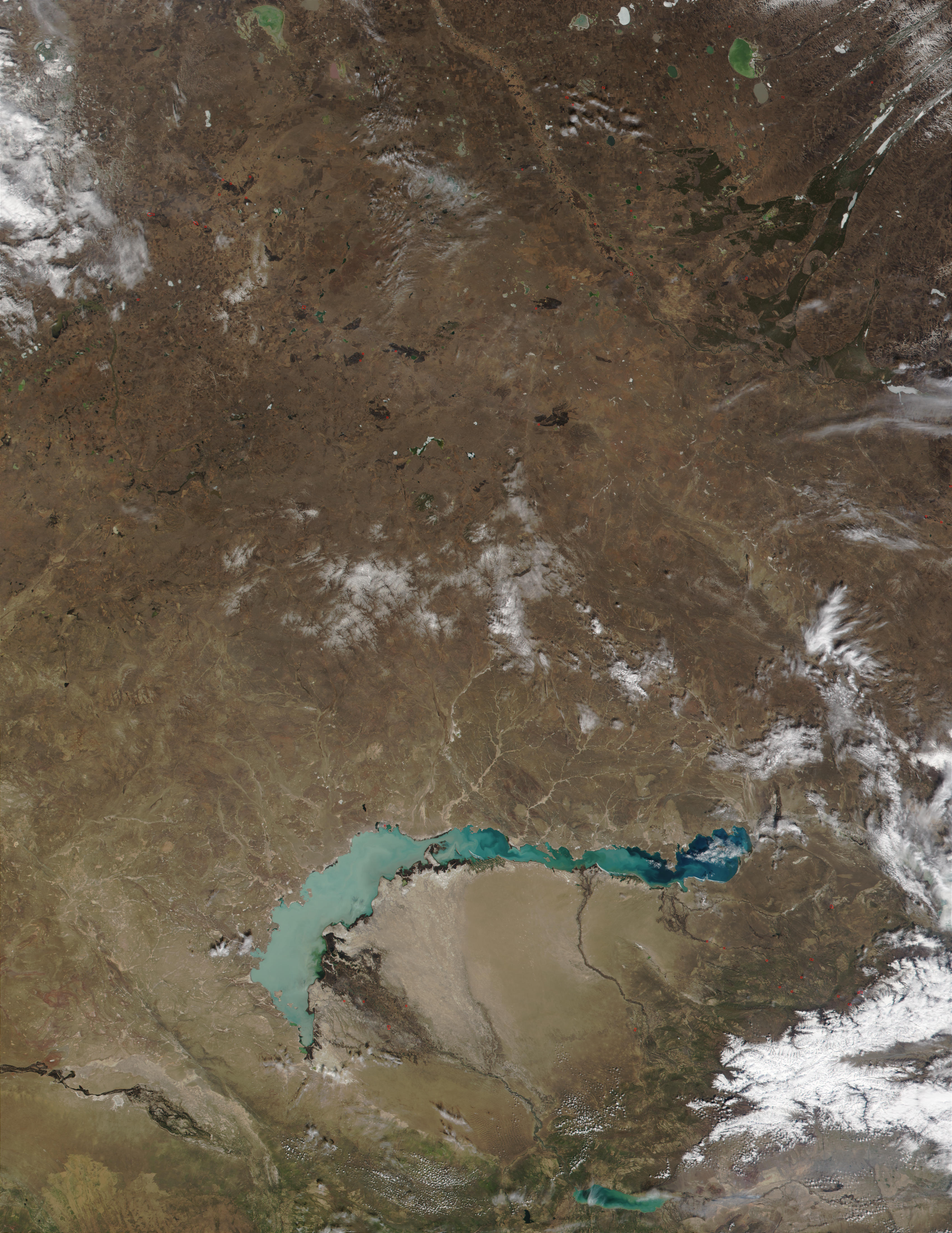 Incendios en Kazajistán oriental
