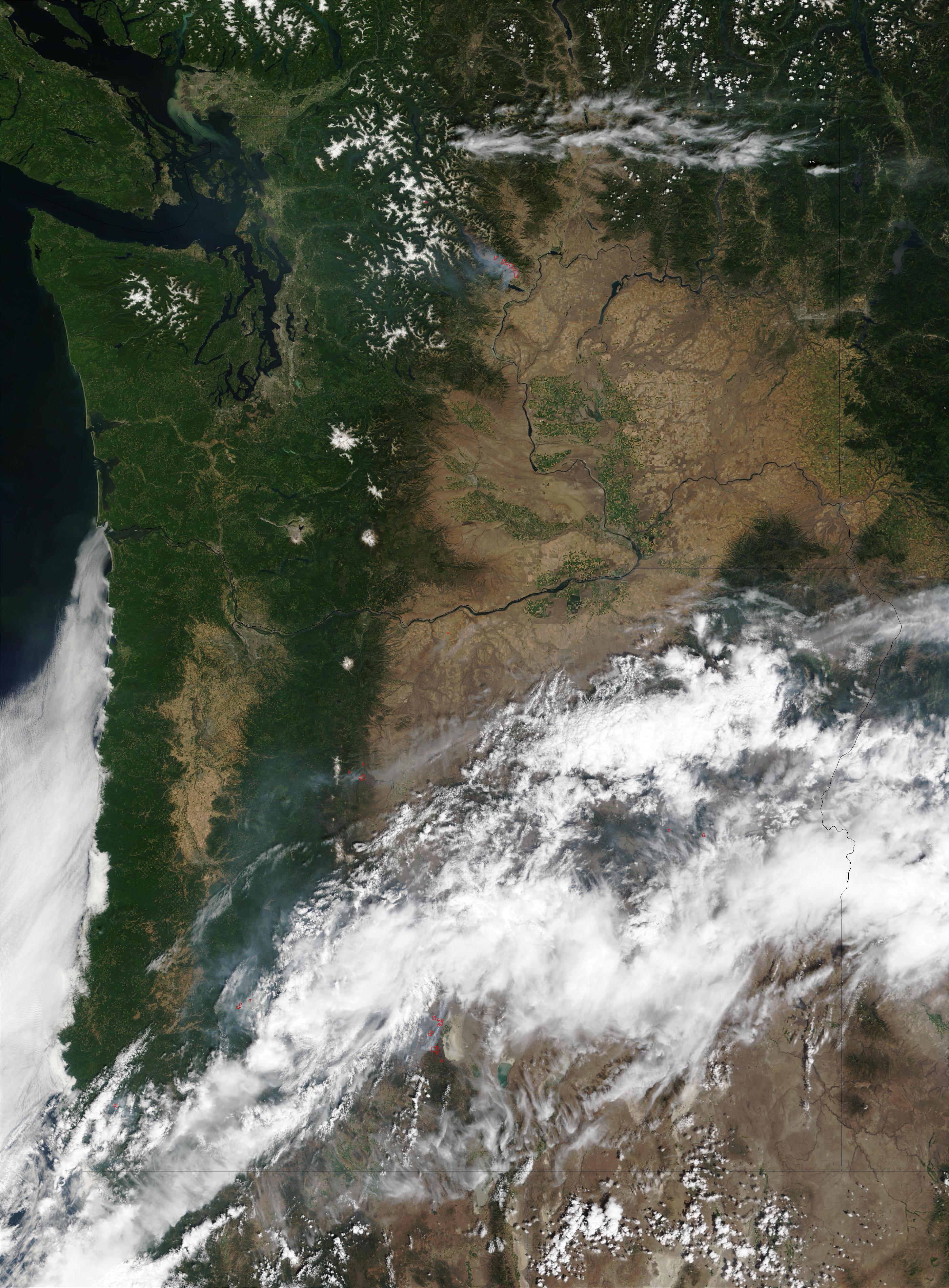 Incendios en Oregón y Washington