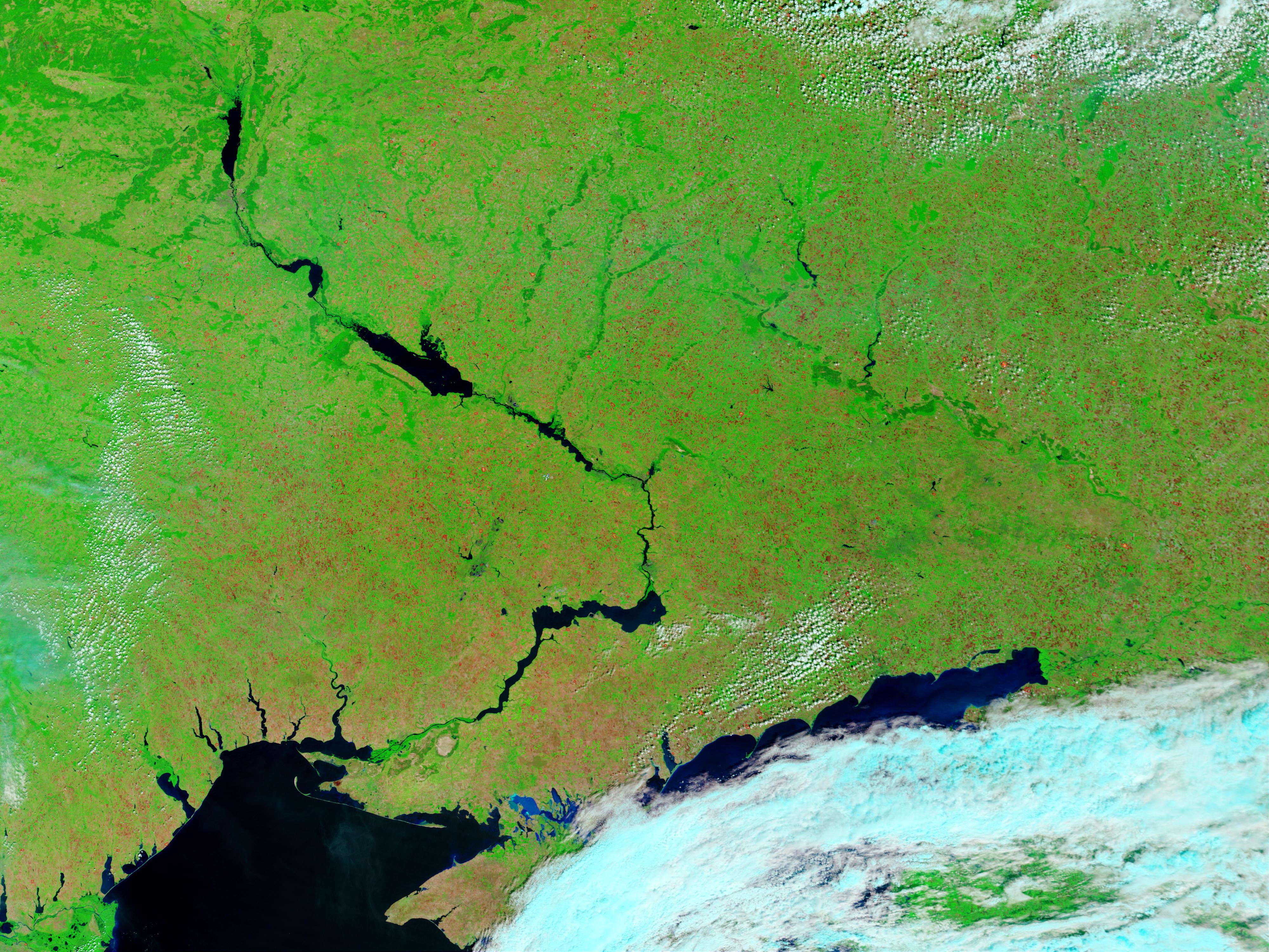 Incendios en Ucrania