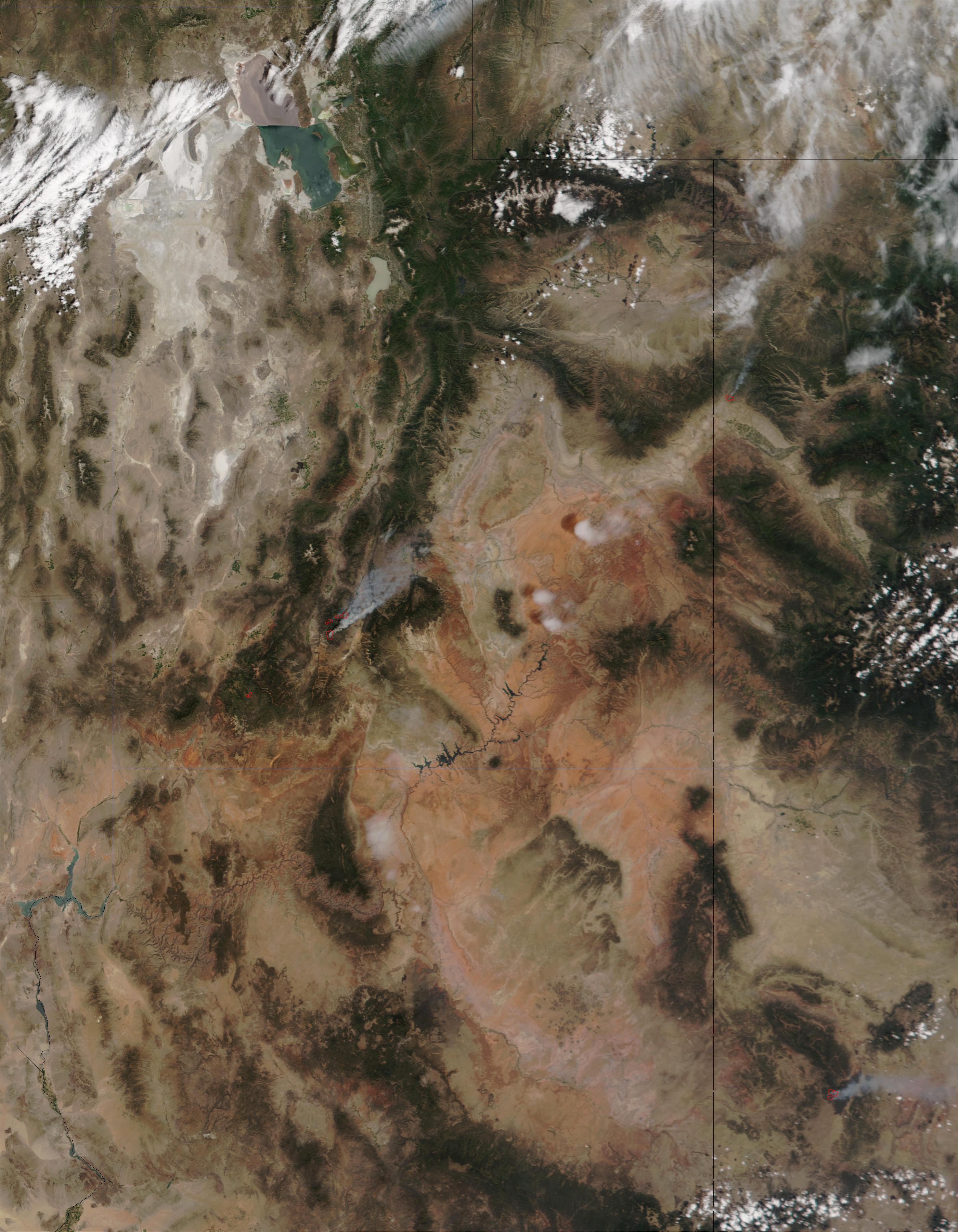 Incendios en Utah, Colorado, y Nuevo México