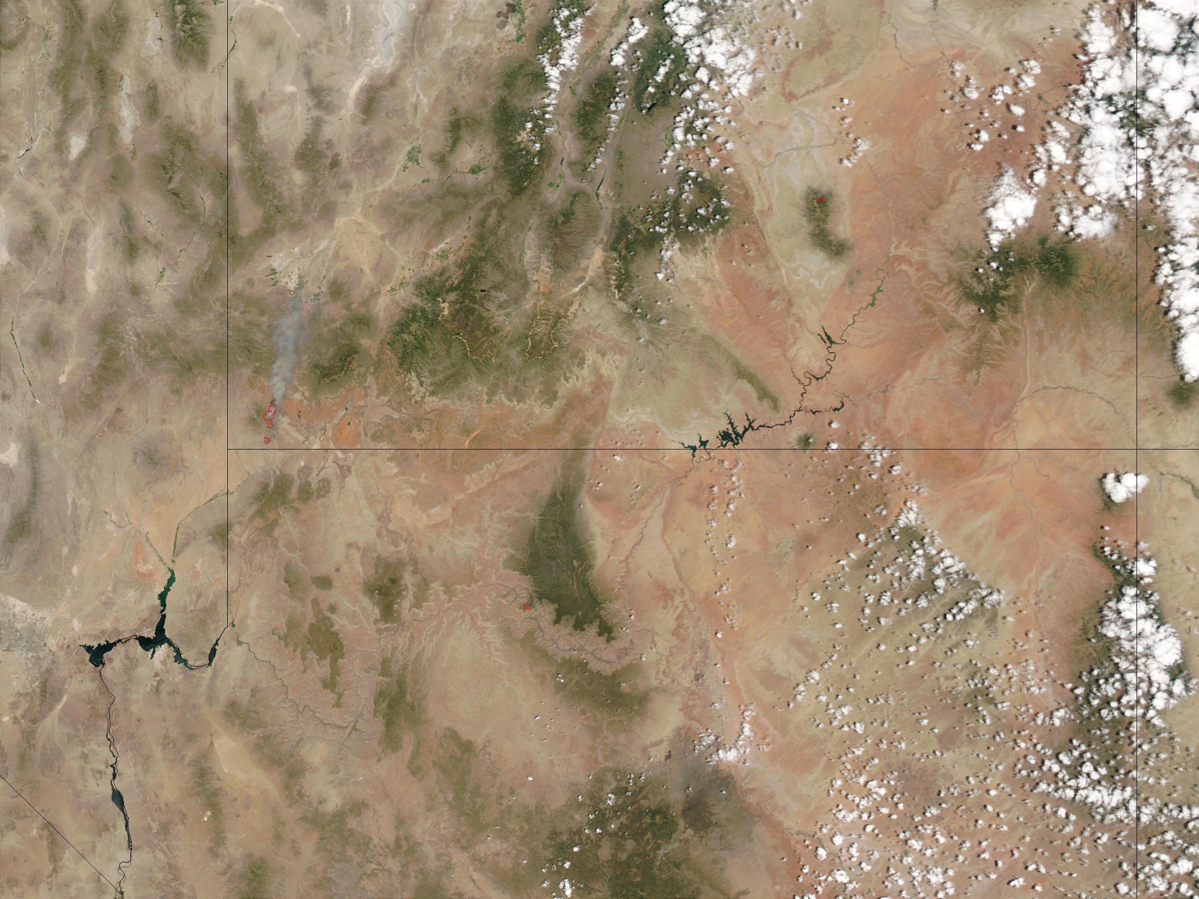 Incendios en Utah y Arizona