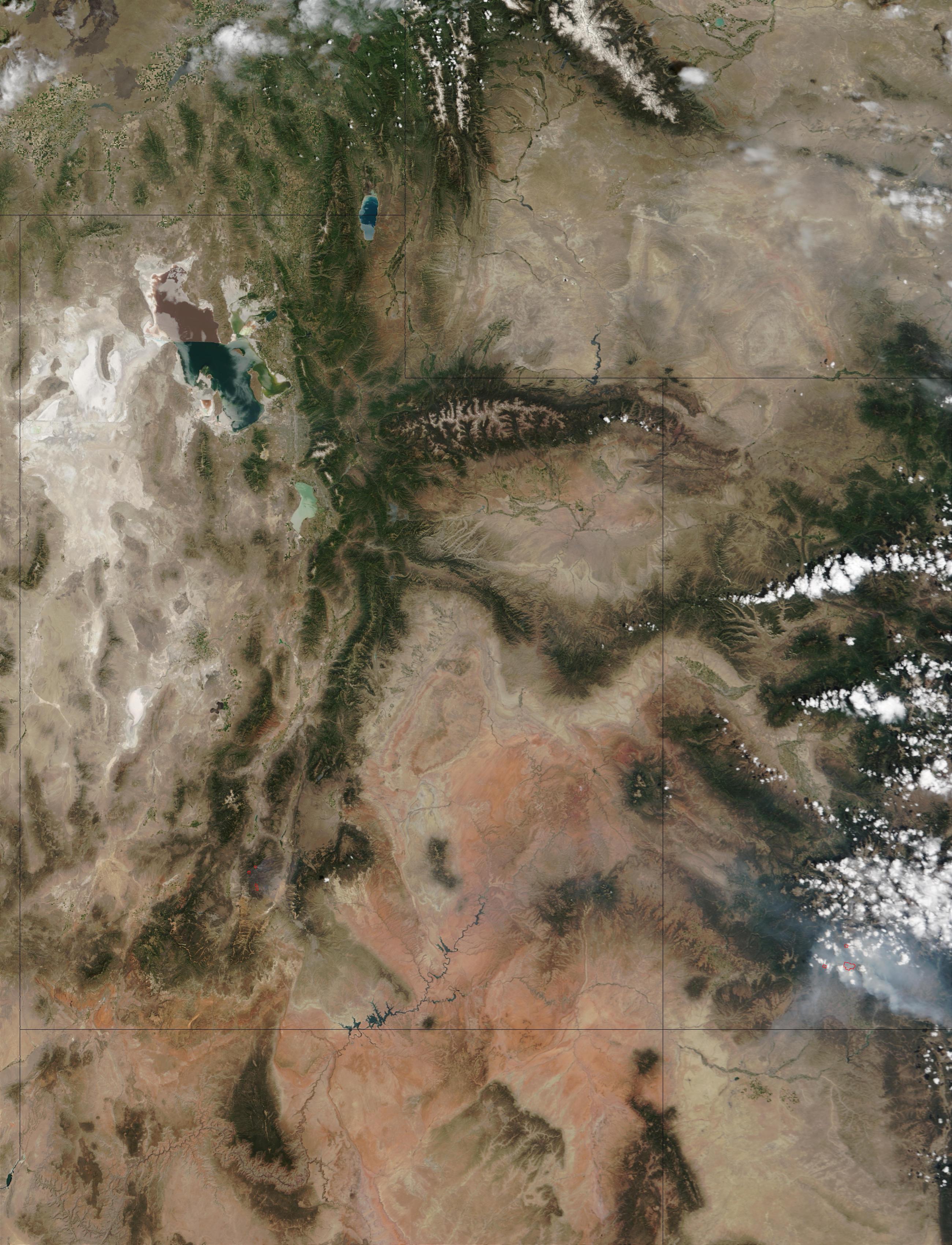 Incendios en Utah y Colorado