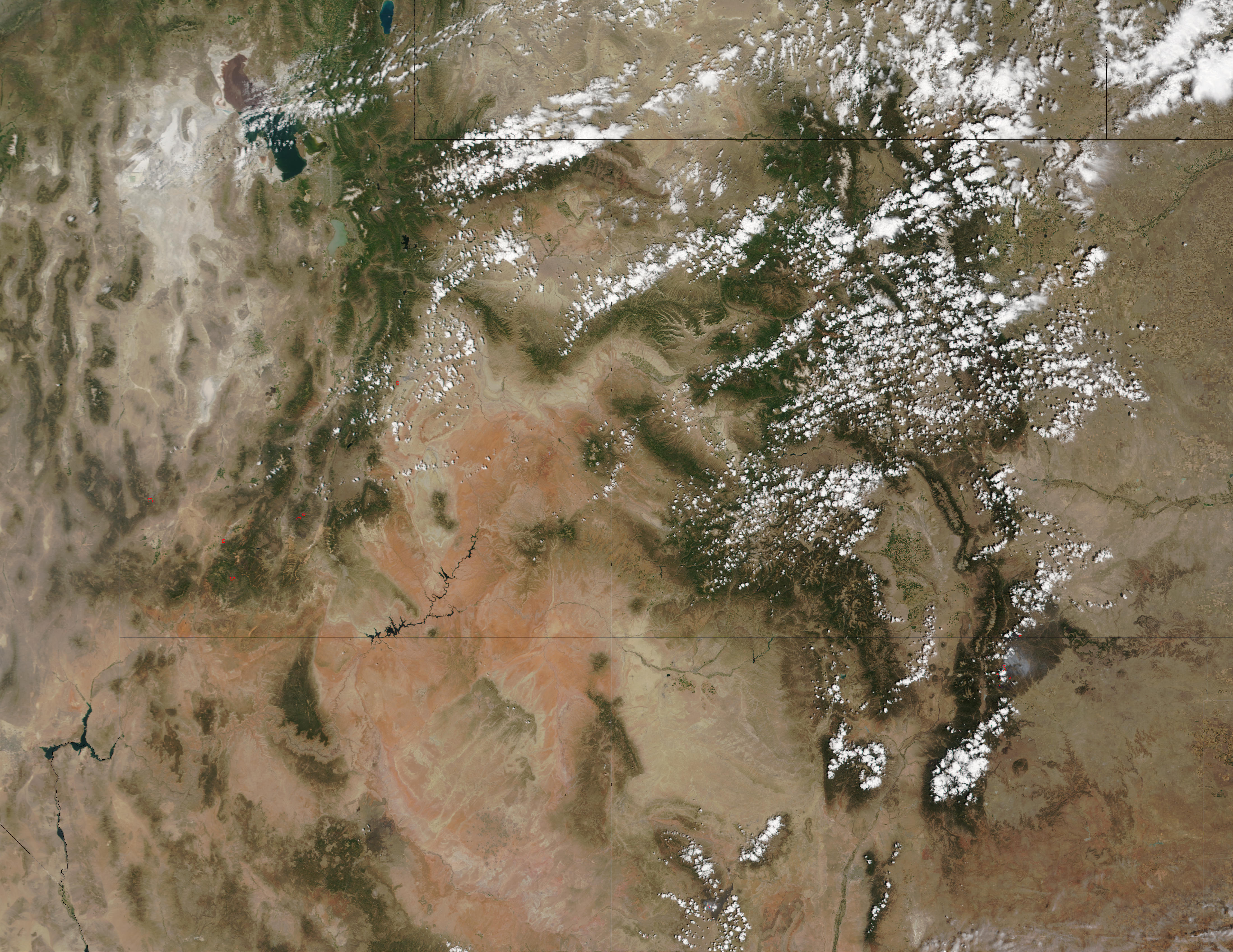 Fires in Utah and New Mexico