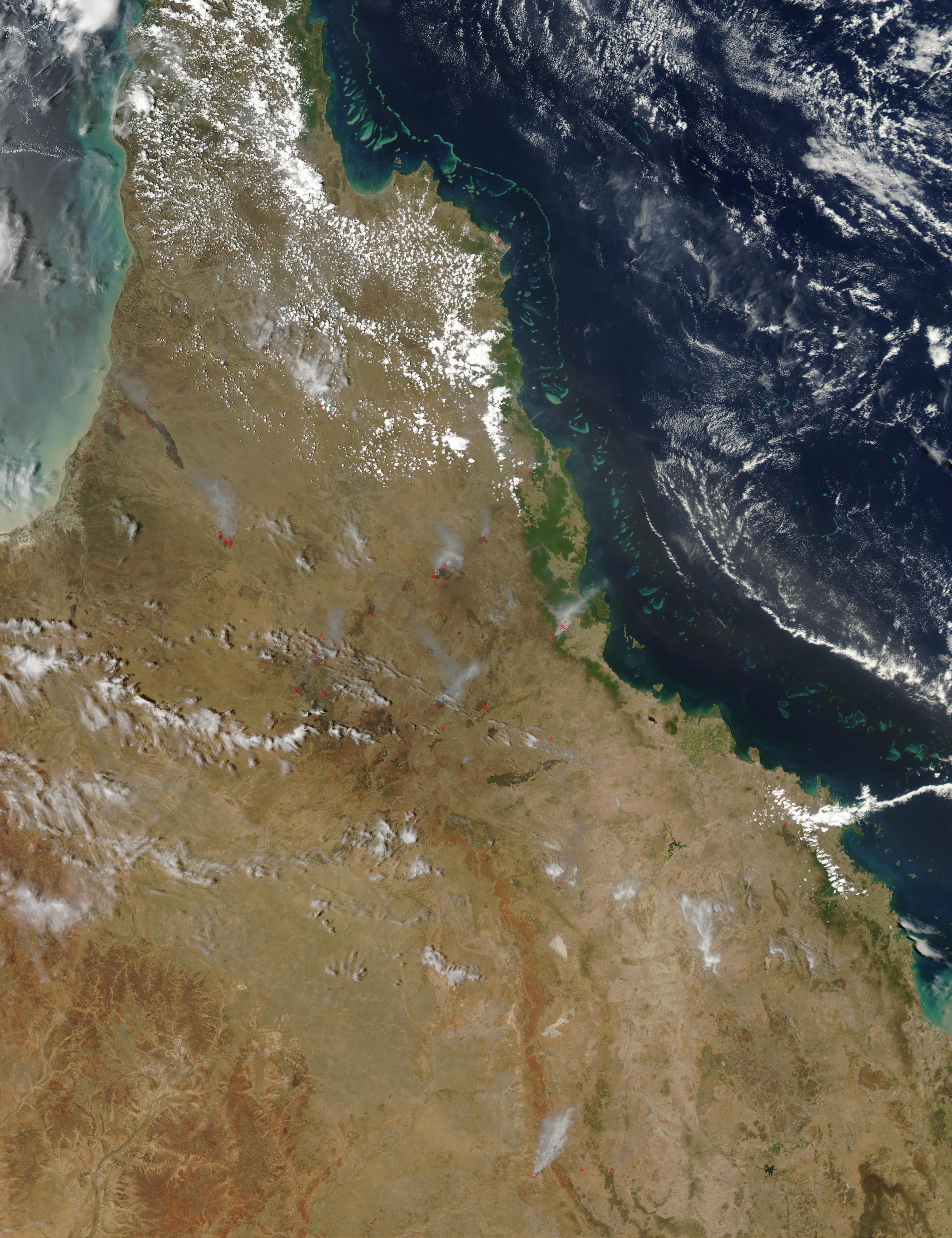 Incendios en al noreste de Australia