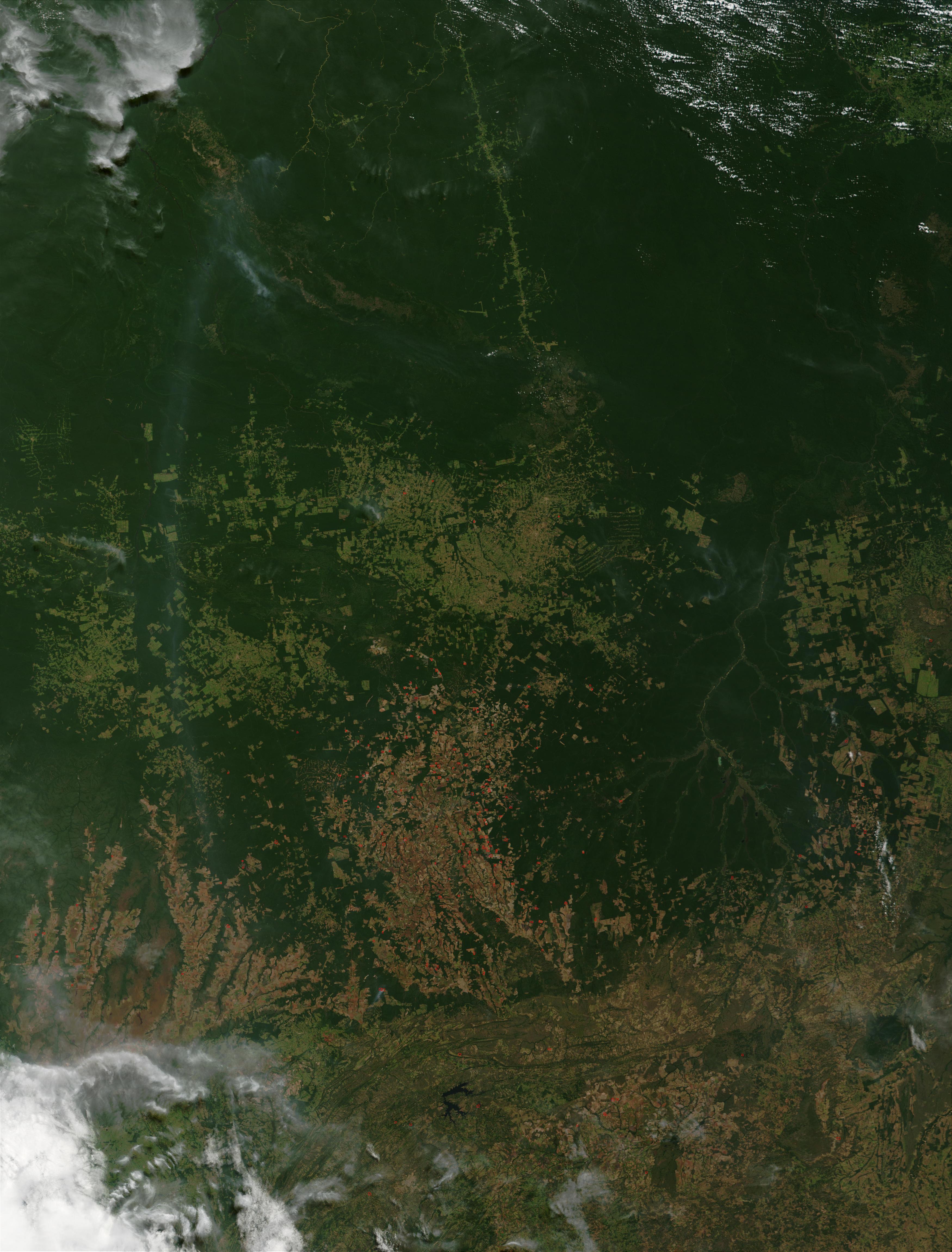 Incendios en el estado de Mato Grosso, Brasil