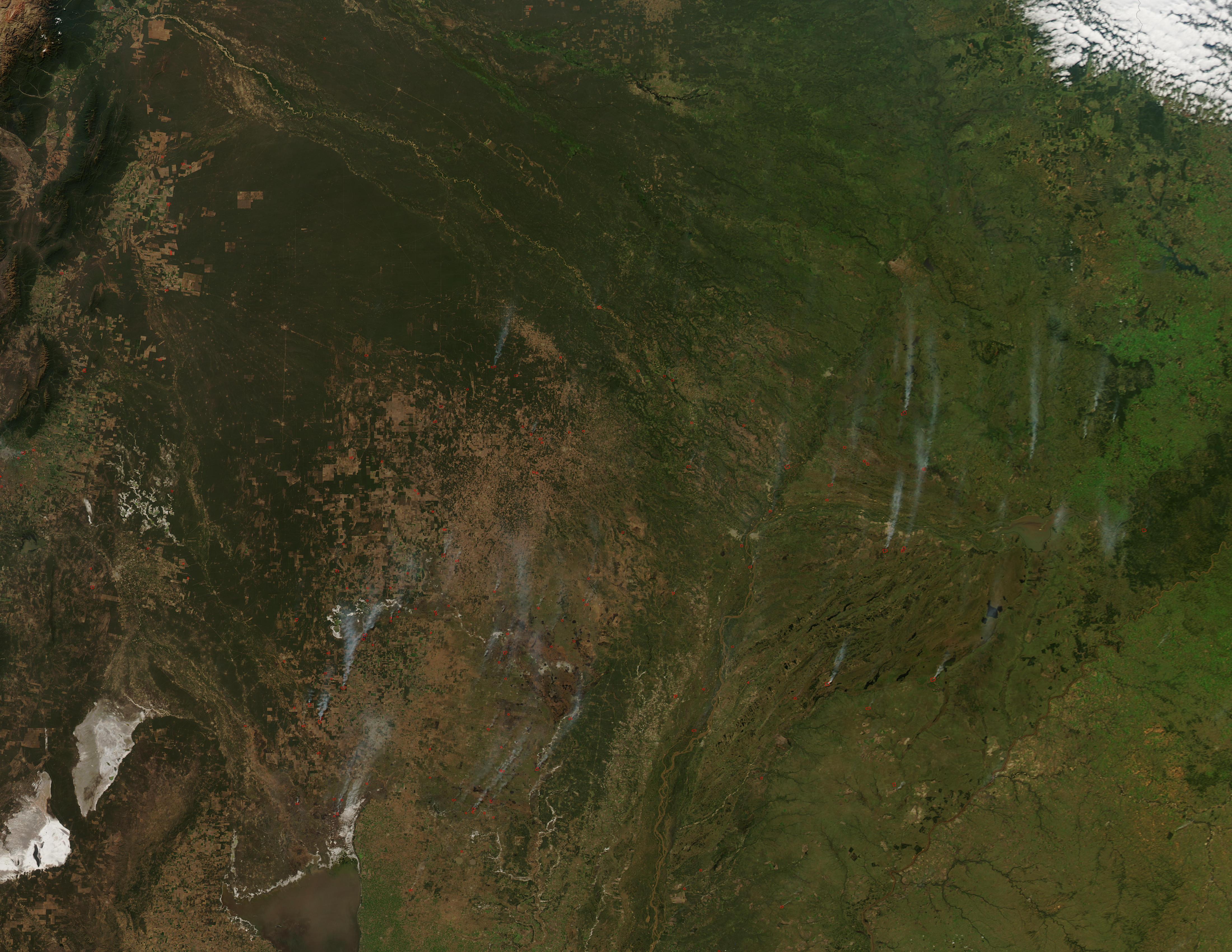 Incendios en el norte de Argentina