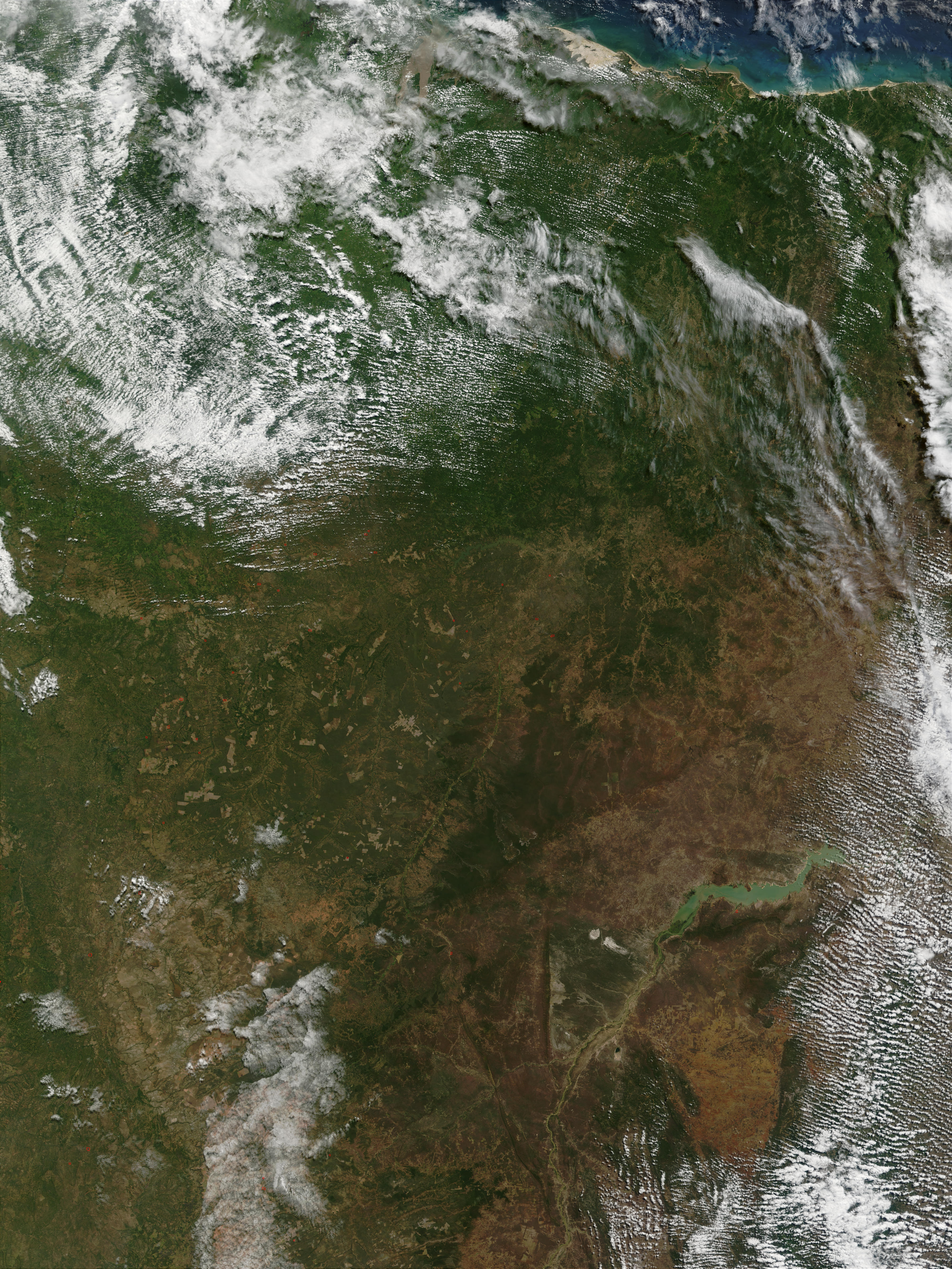 Incendios en el norte de Brasil