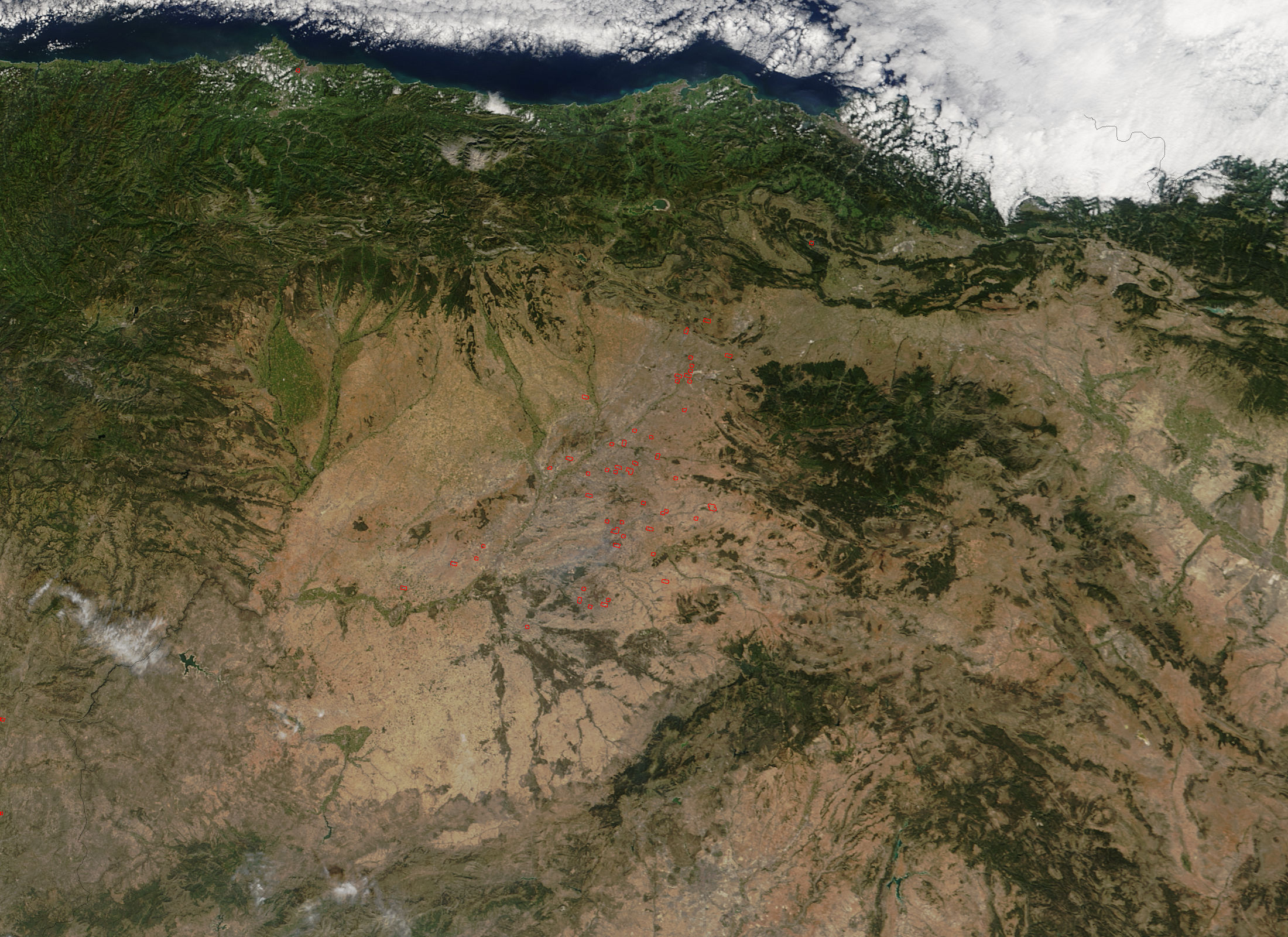 Fires in northern Spain