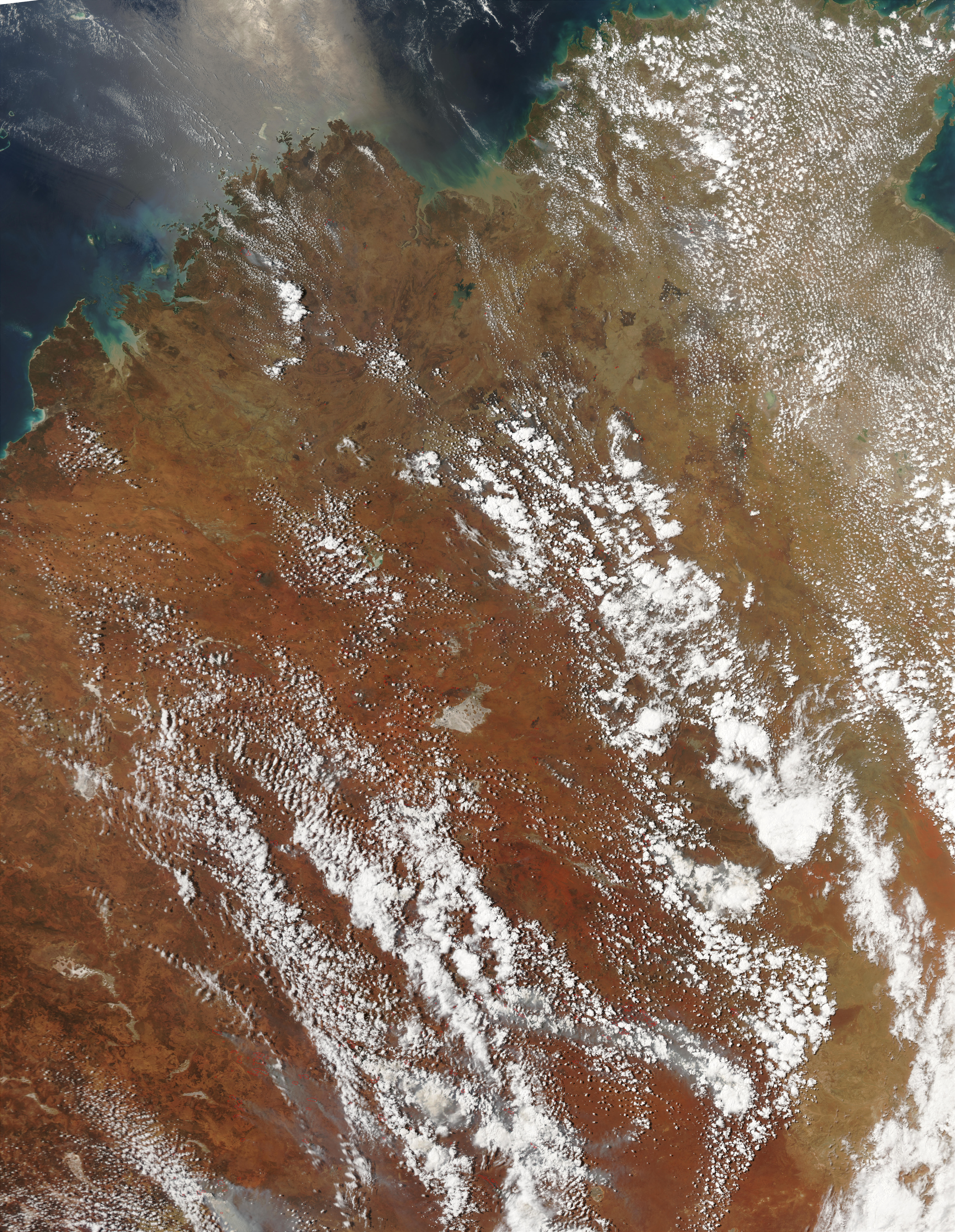 Fires in Northern and Central Australia