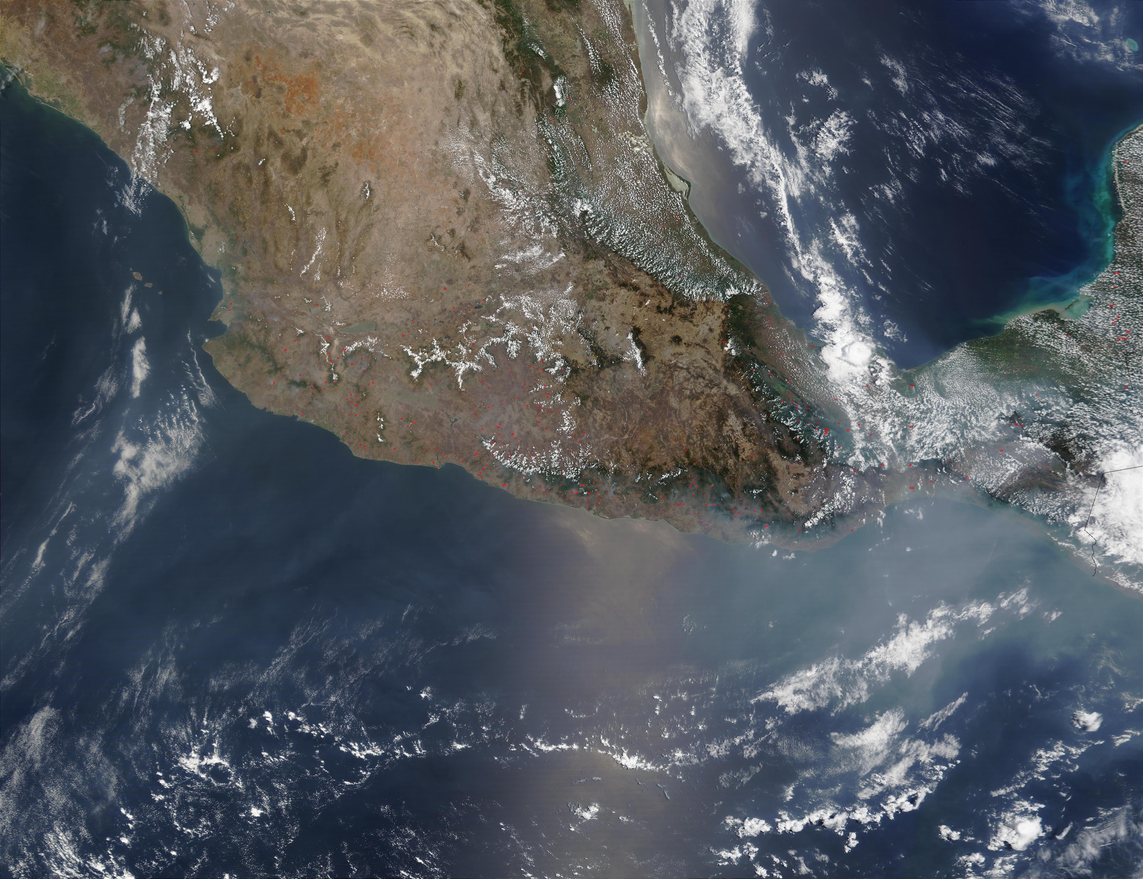 Incendios en el sur de México