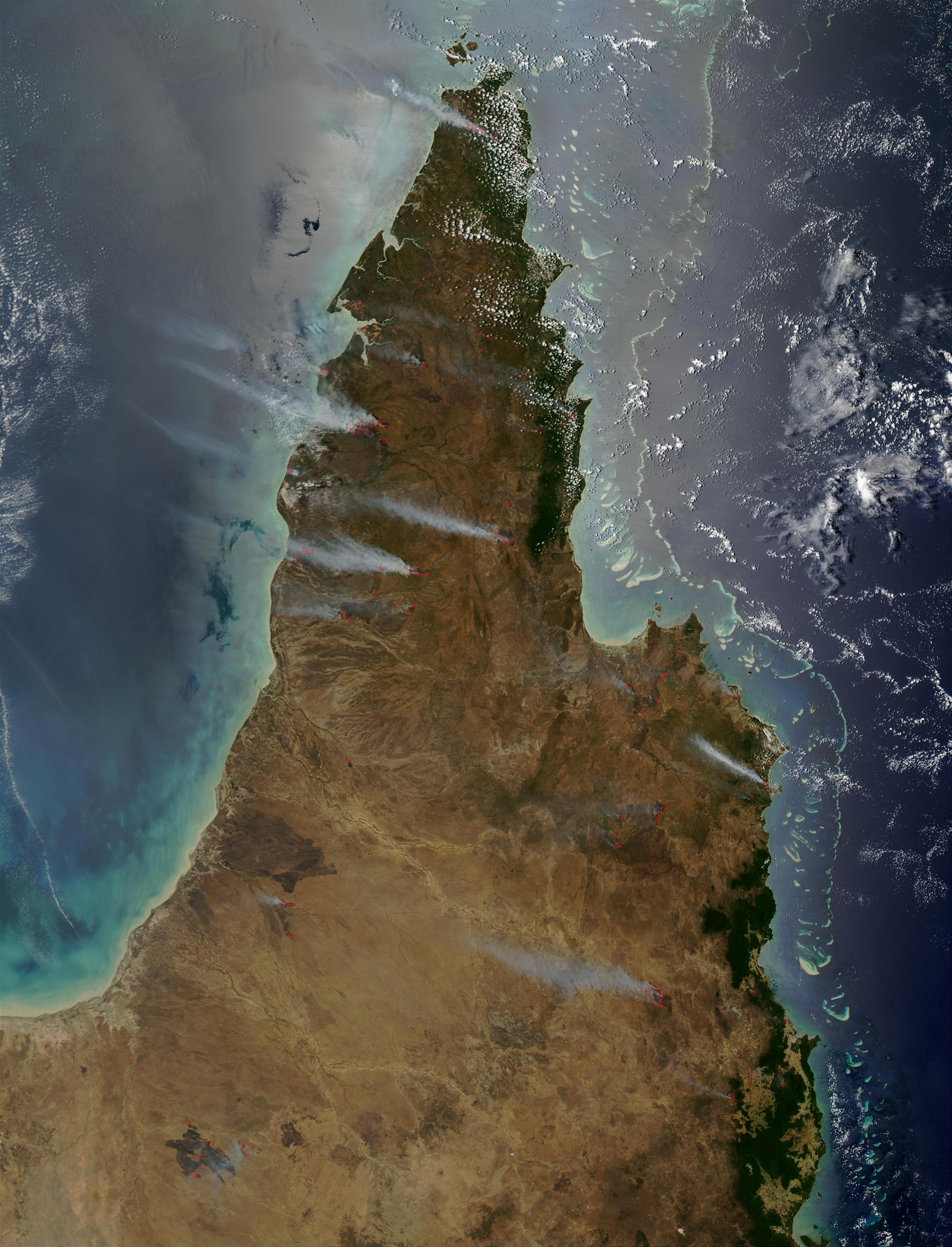 Fires on Cape York Peninsula, Australia