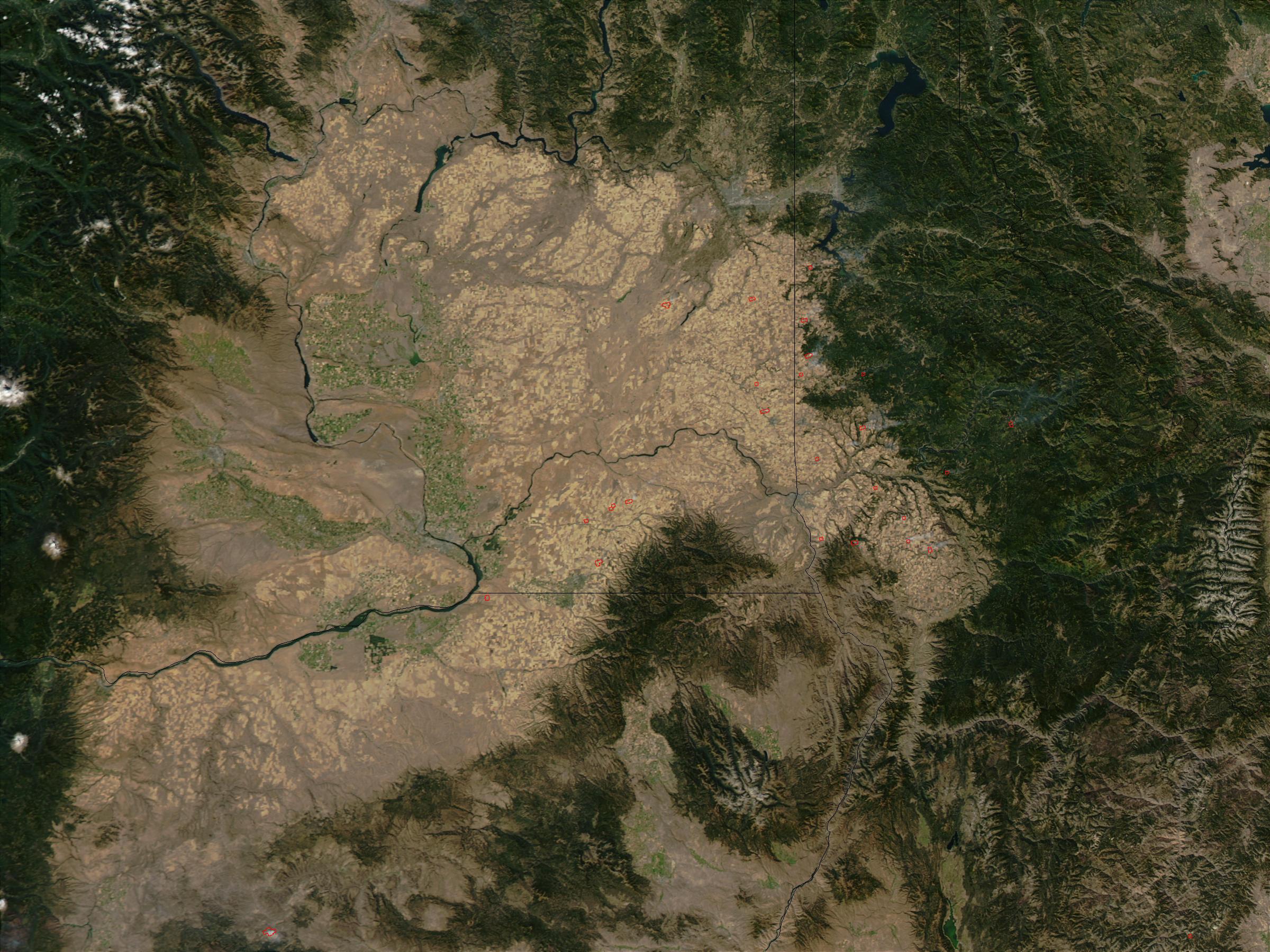 Incendios en los rastrojos de trigo en Washington oriental y Idaho
