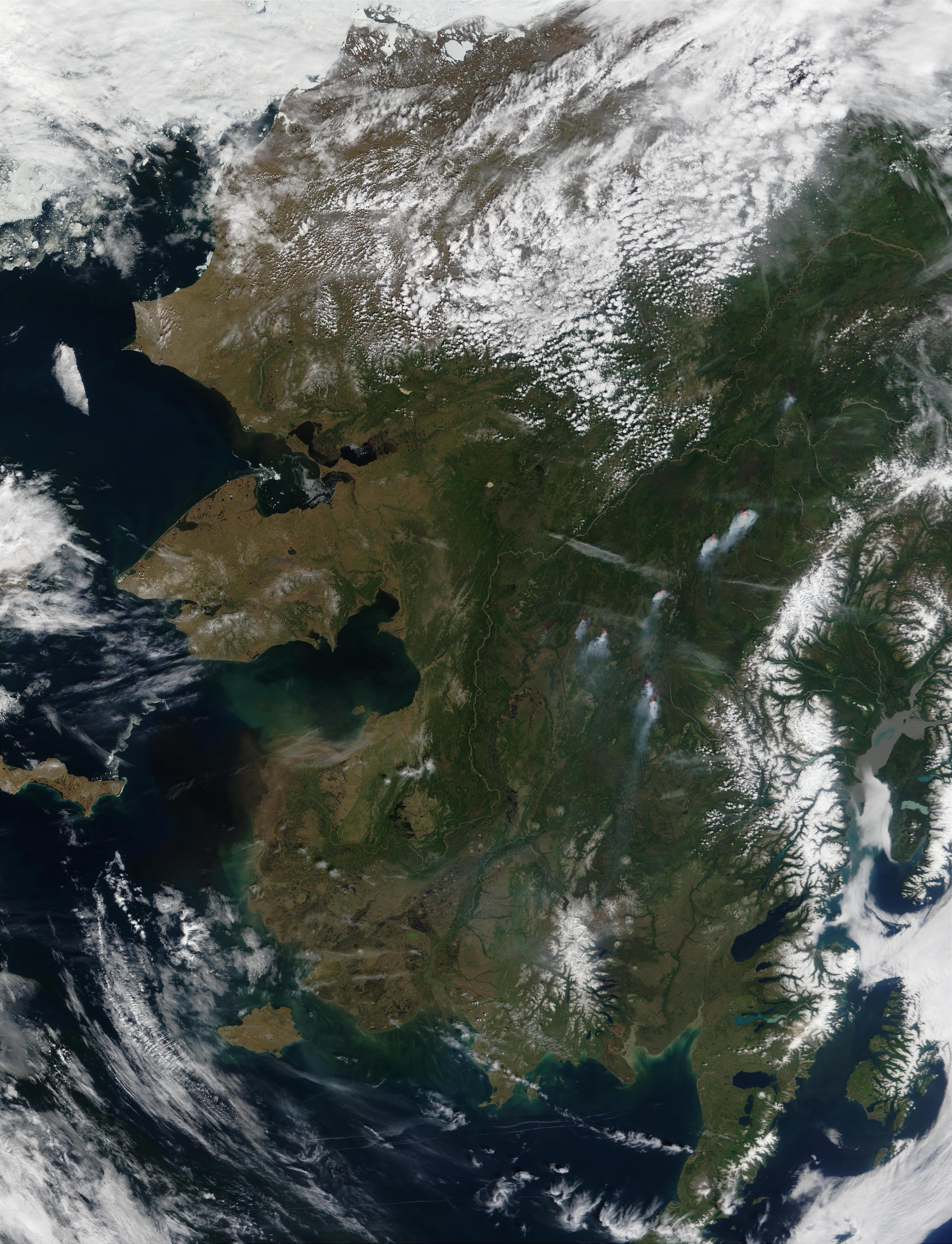 Wildfires in Central Alaska