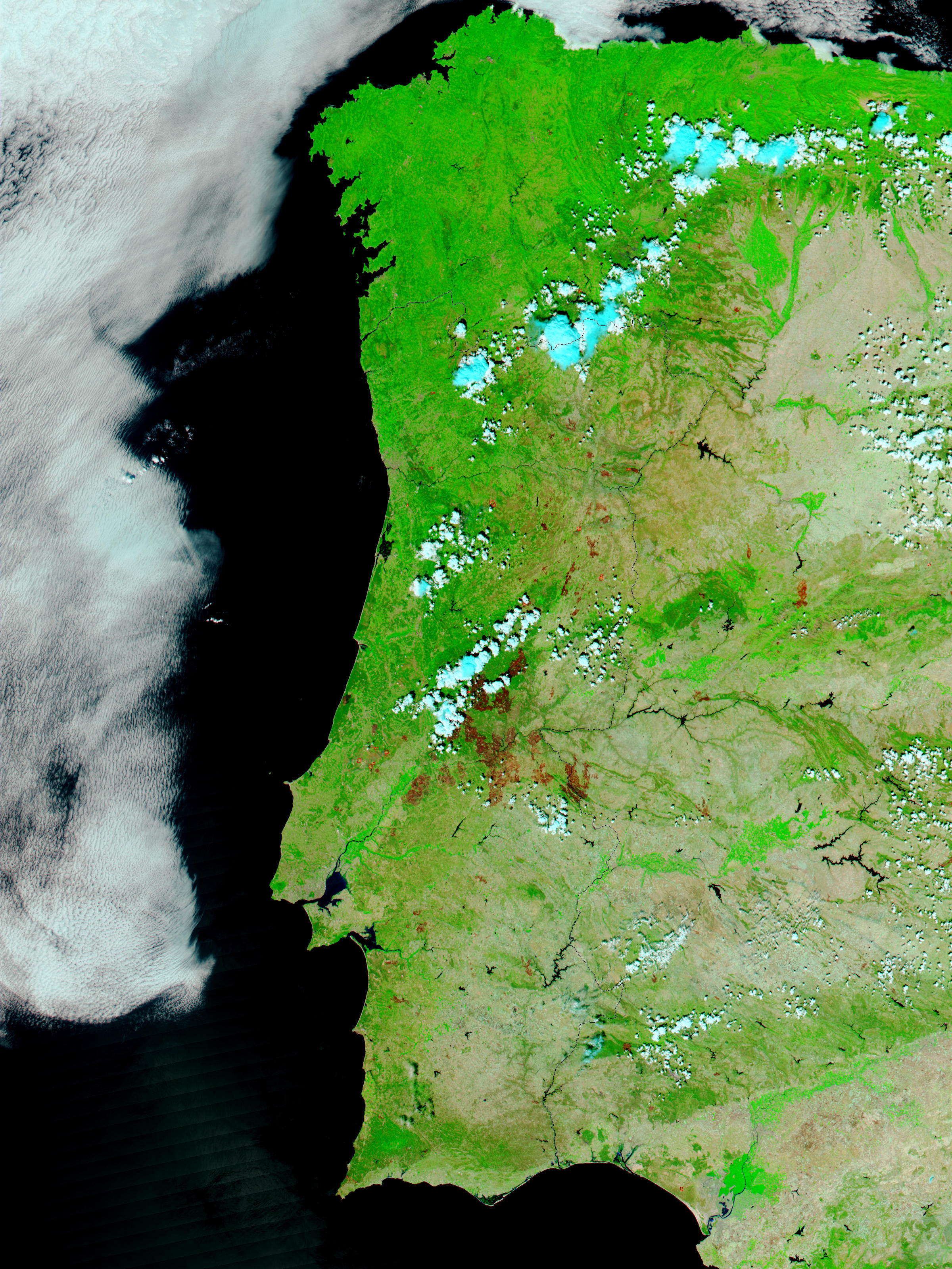 Fires and burn scars across Portugal