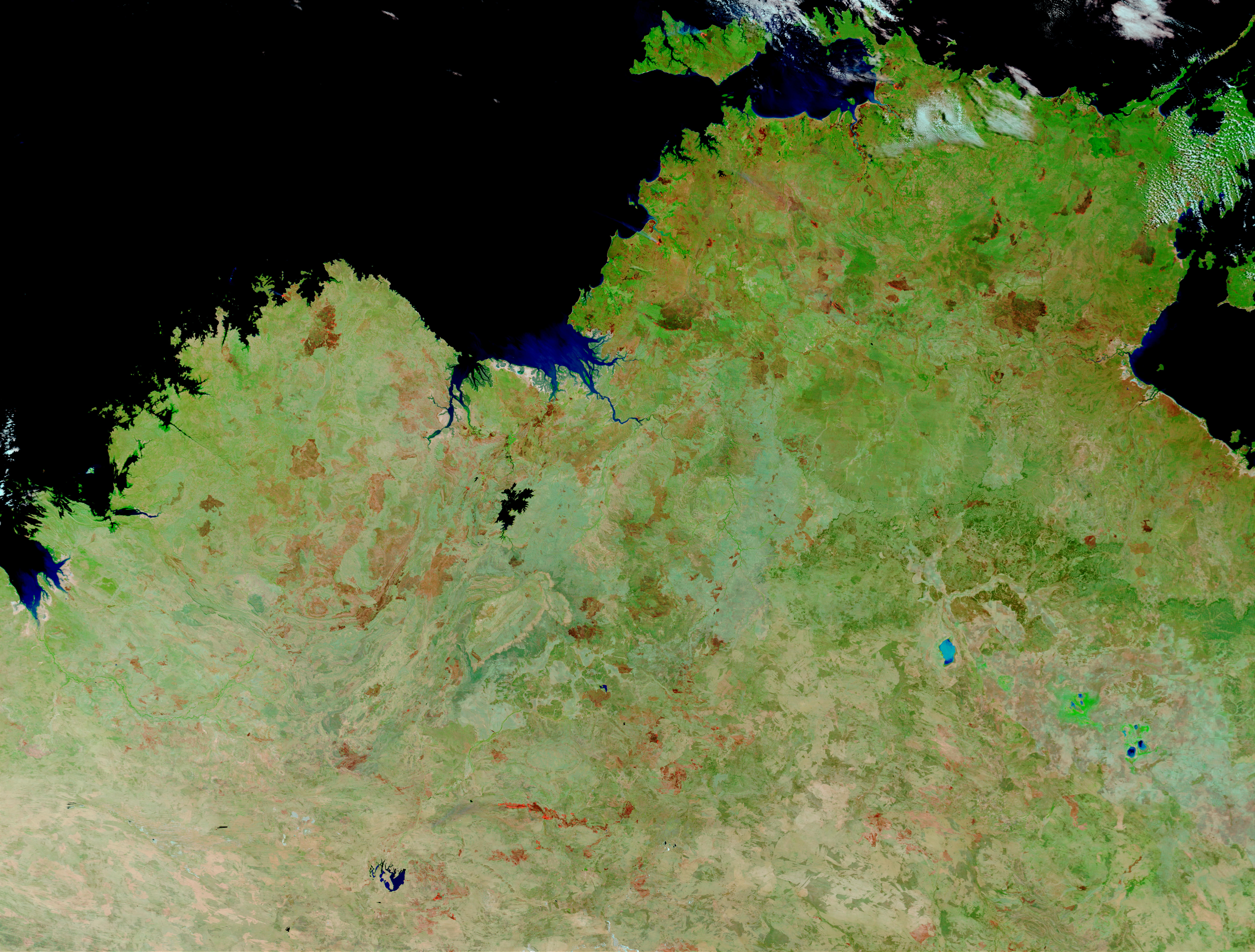 Fires and burn scars in Northern Australia