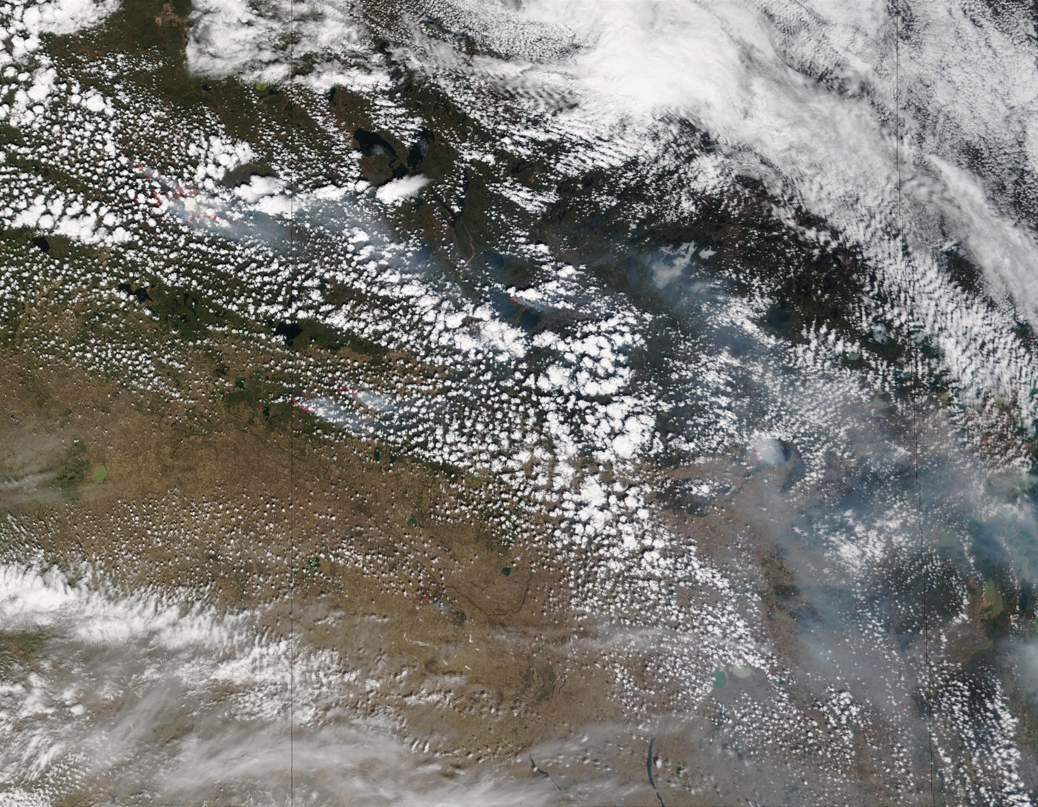Incendios y humo en Alberta y Saskatchewan, Canadá