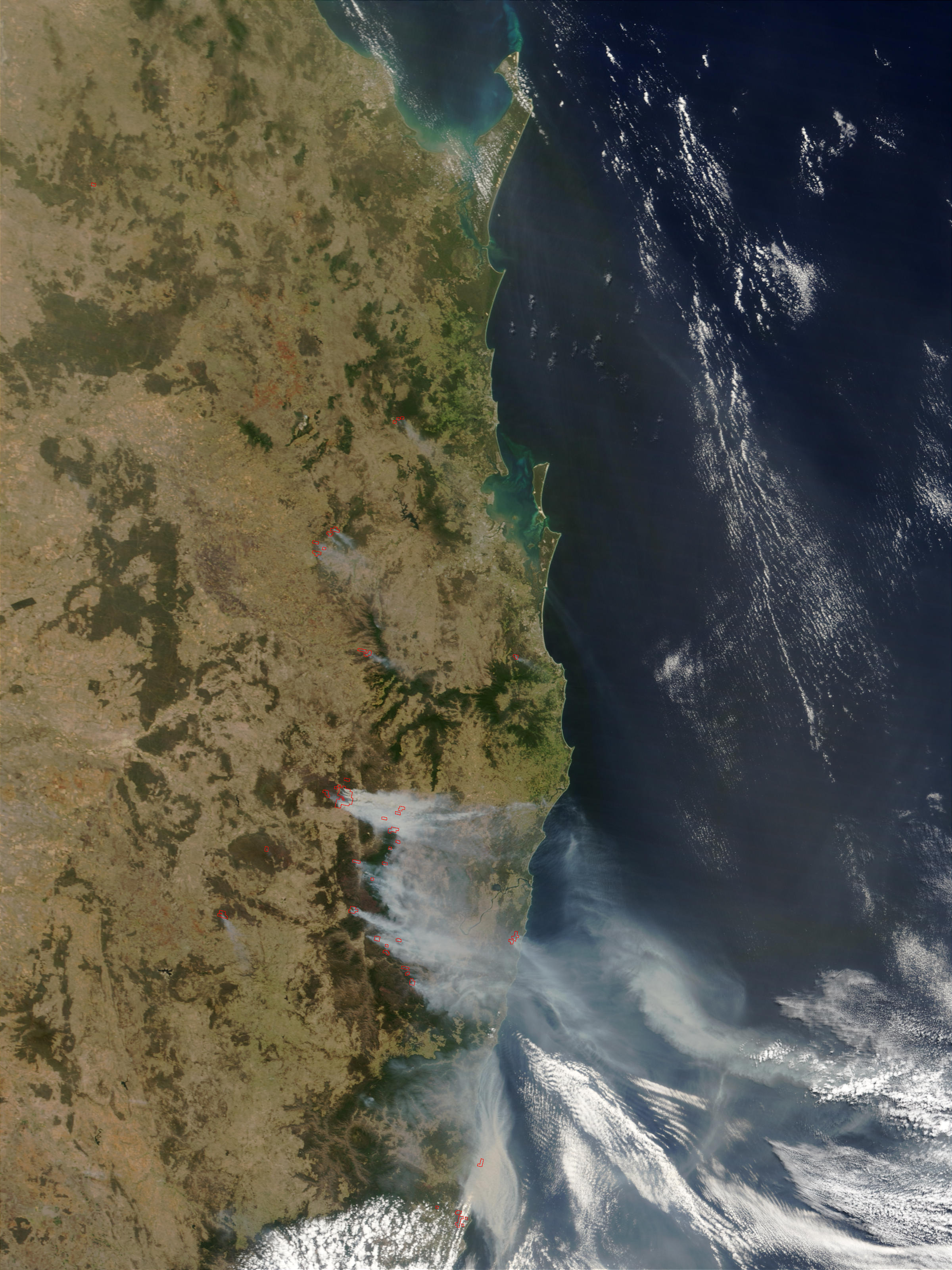 Fires and smoke in New South Wales, Australia