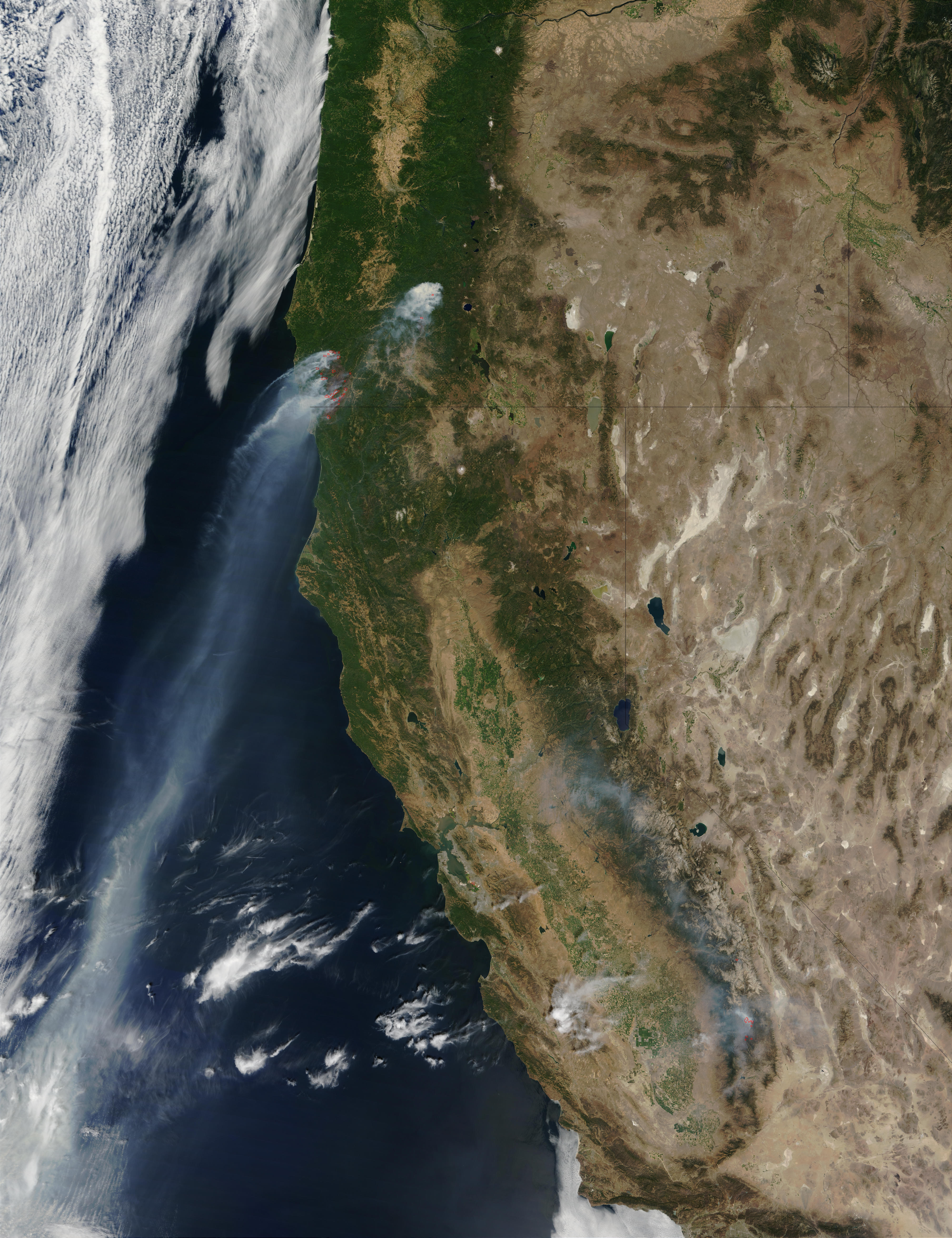 Incendios y humo en Oregón y California